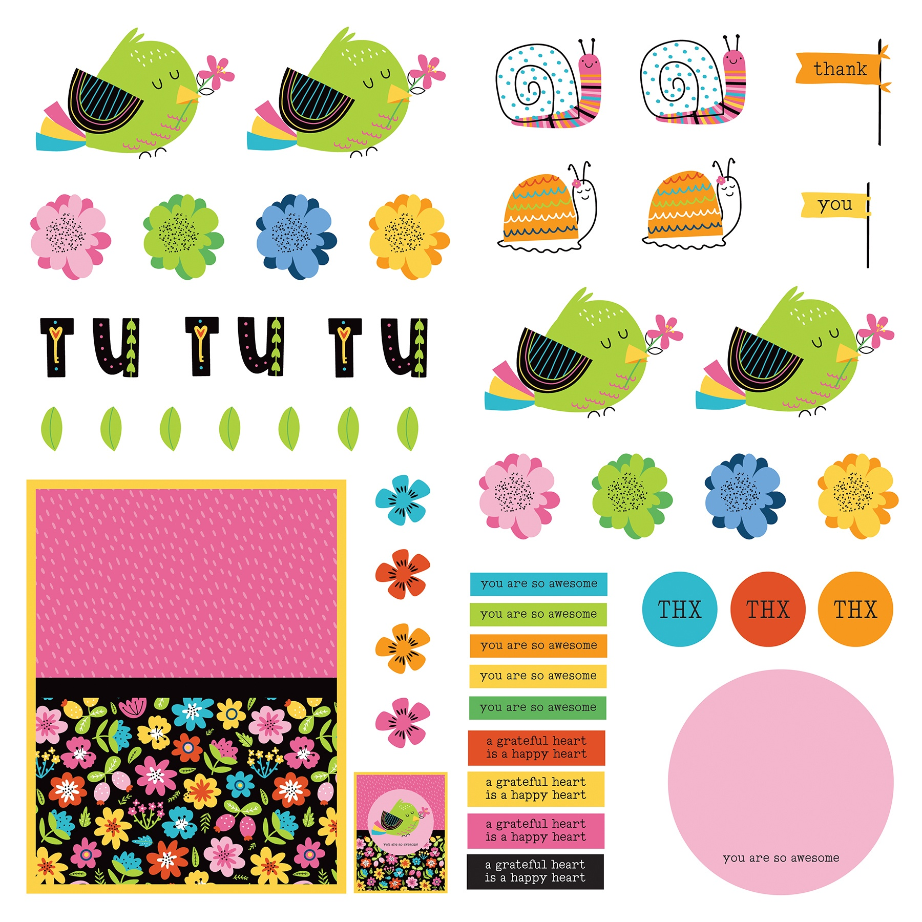 Snail Mail Cardstock Die-Cut Sheet 12X12-Snail Mail