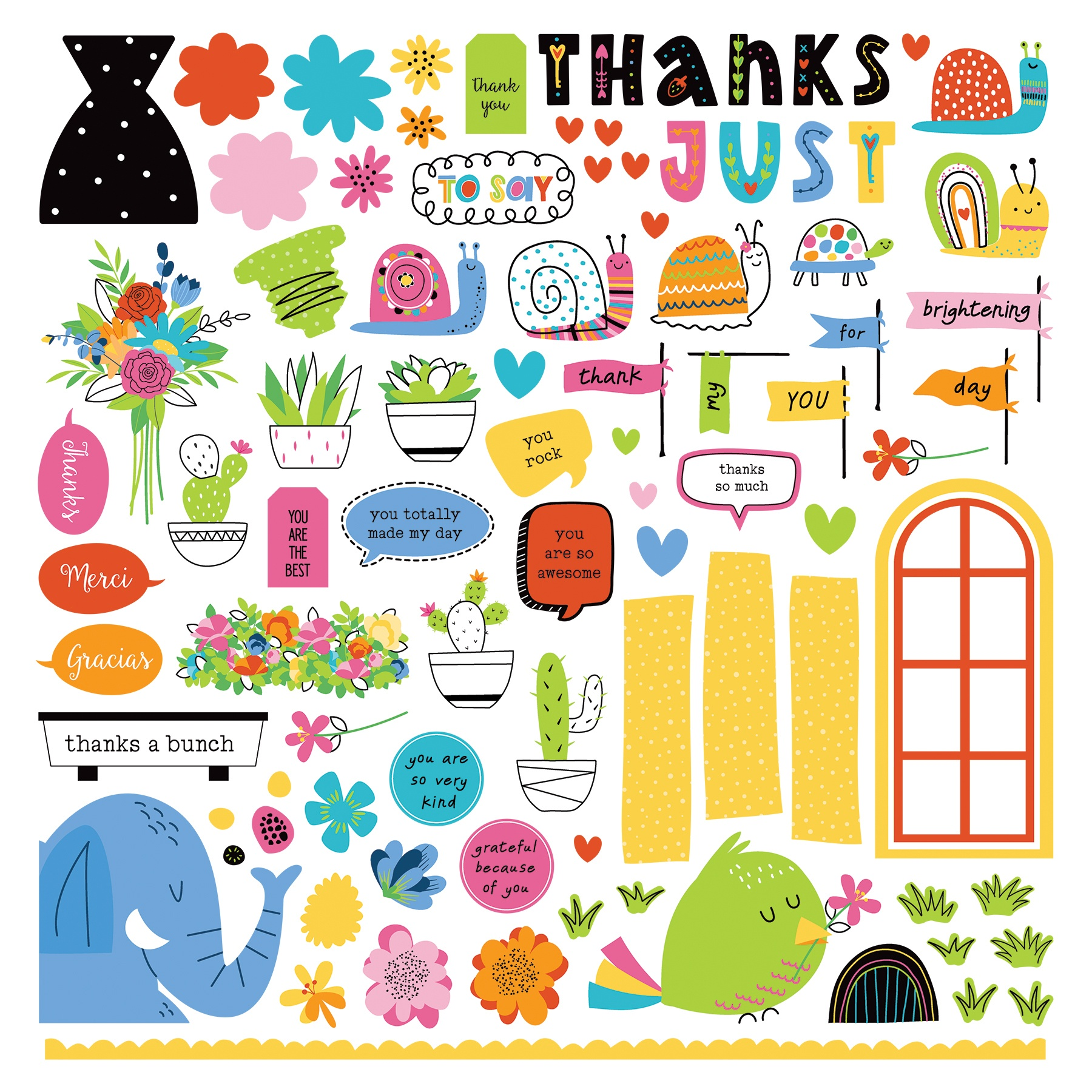 PhotoPlay Collection Card Kit Stickers-Snail Mail