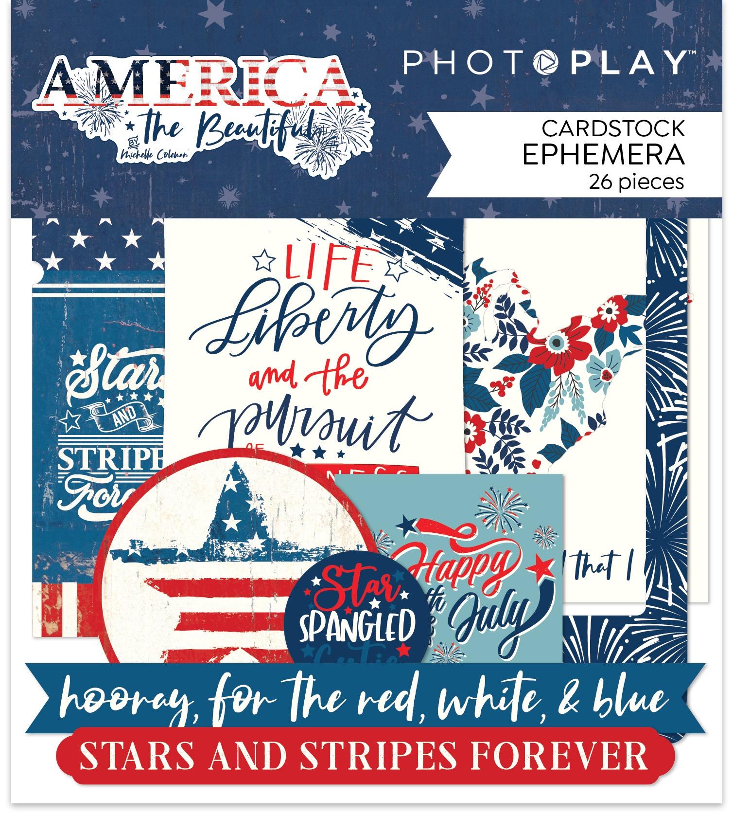 America The Beautiful Ephemera Cardstock Die-Cuts-