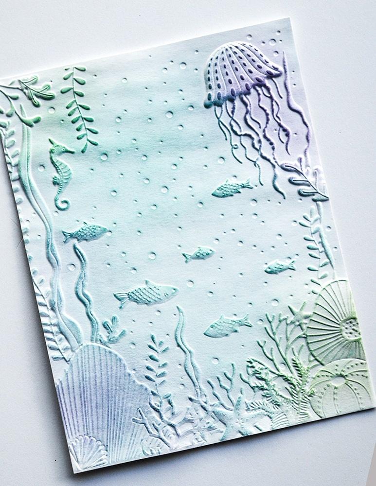 3D Embossing Folder 4.5X5.75 Underwater