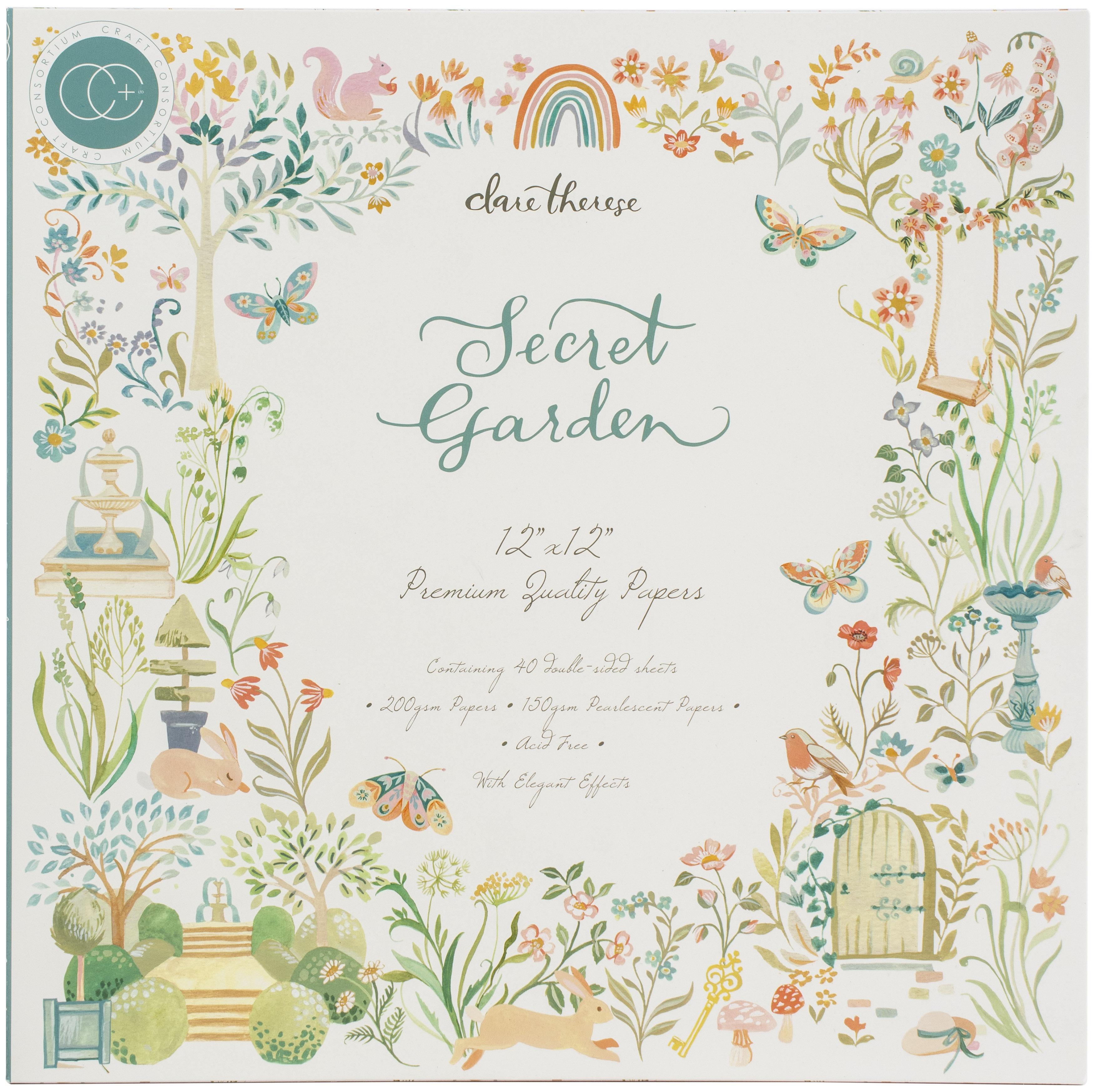 Craft Consortium - Secret Garden - 12x12 Paper Pad