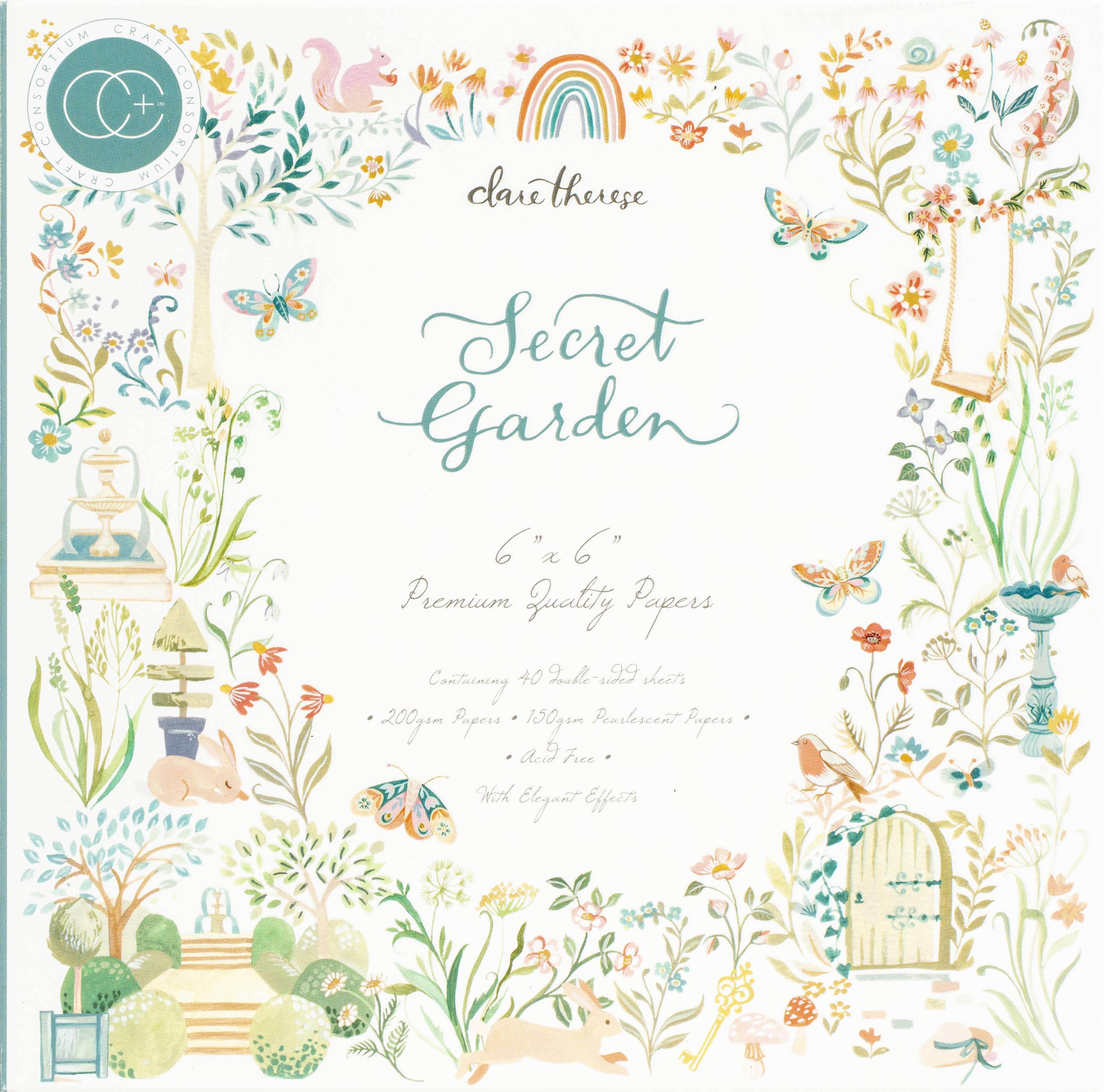 Craft Consortium - Secret Garden - 6x6 Paper Pad