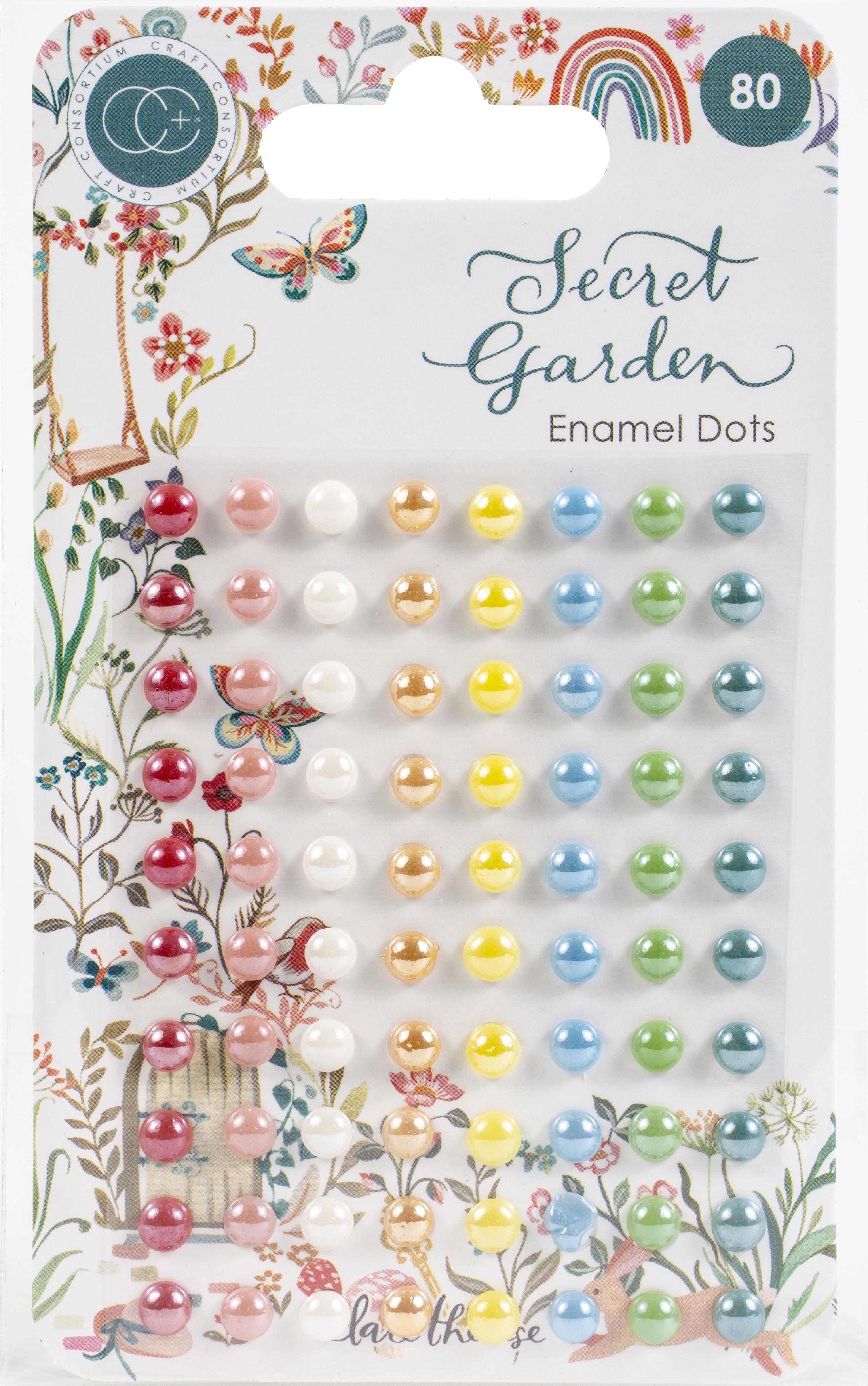 Craft Consortium - Secret Garden - Enamel Dots