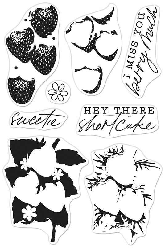 Hero Arts Color Layering Clear Stamps 4X6-Strawberries