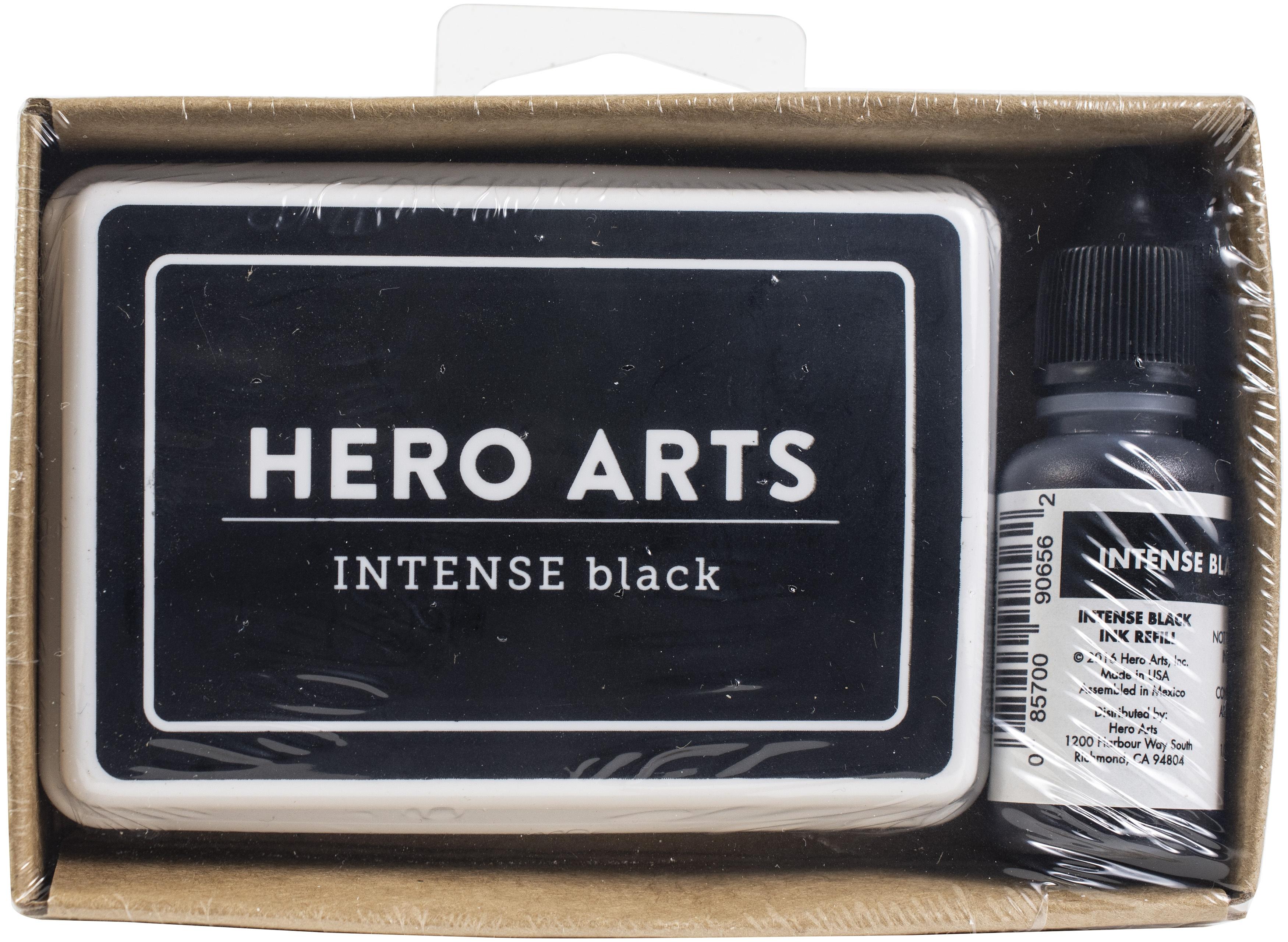 HA - Dye Ink Pad + Reinker Bundle - Intense Black