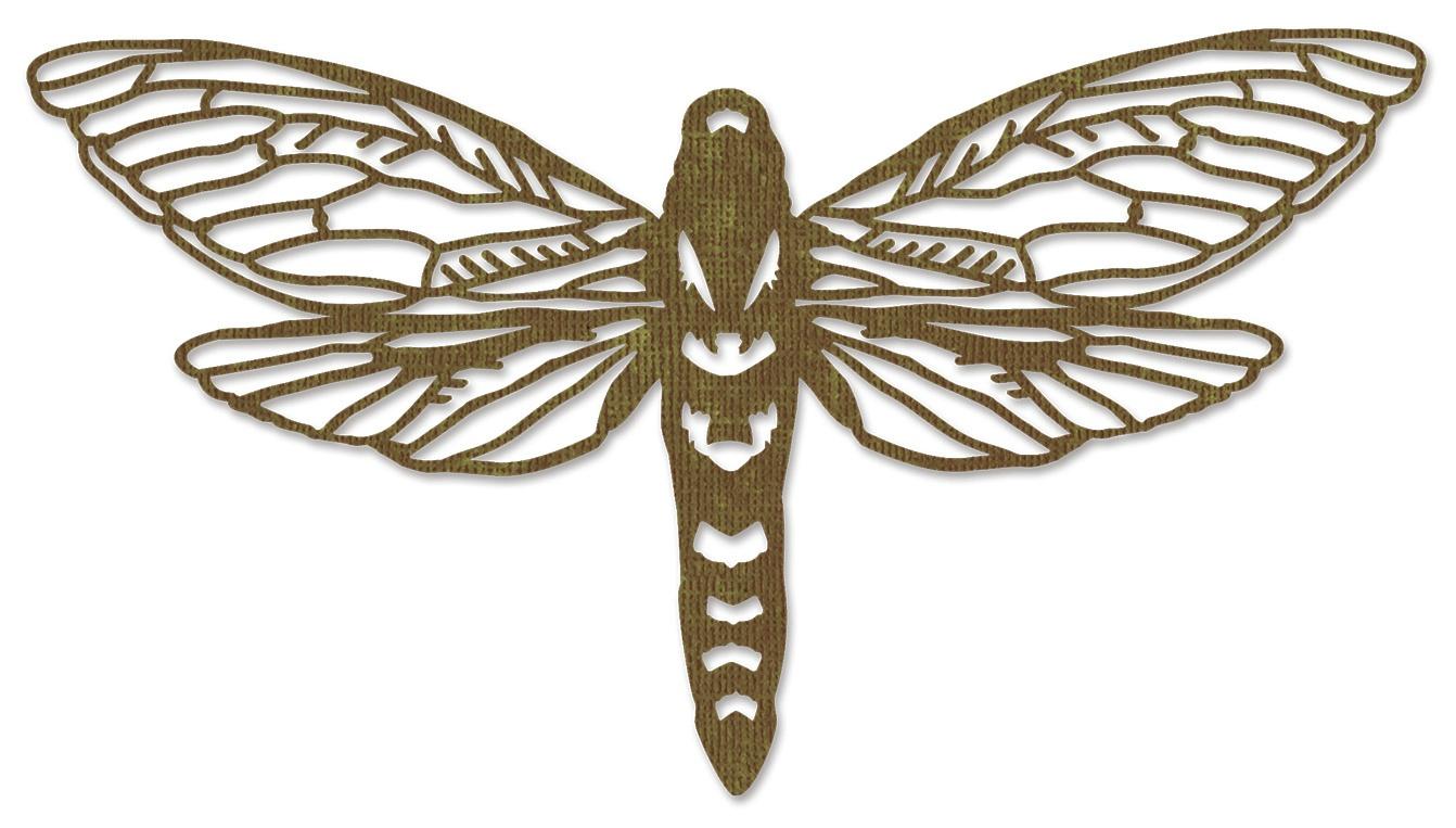 Perspective Moth Thinlits Die By Tim Holtz