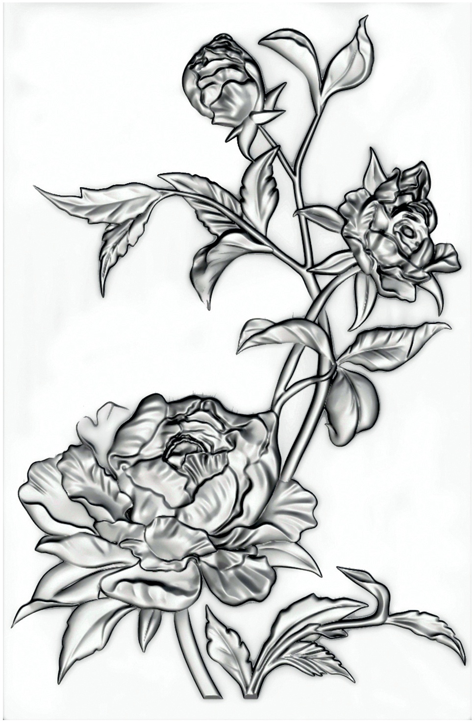 Sizzix 3D Texture Fades Embossing Folder By Tim Holtz-Mini Roses