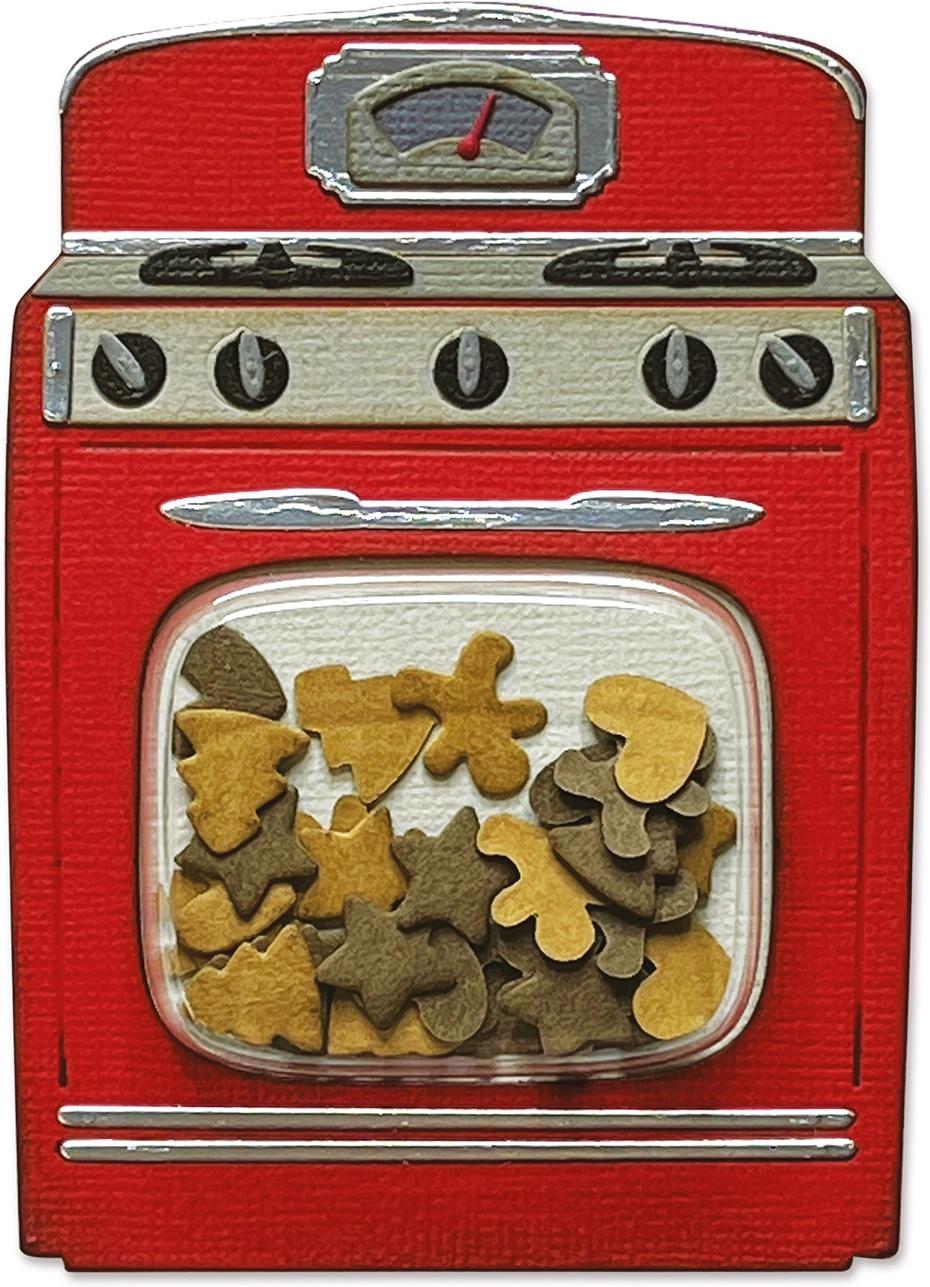 Sizzix Thinlits Dies By Tim Holtz 12/Pkg-Retro Oven