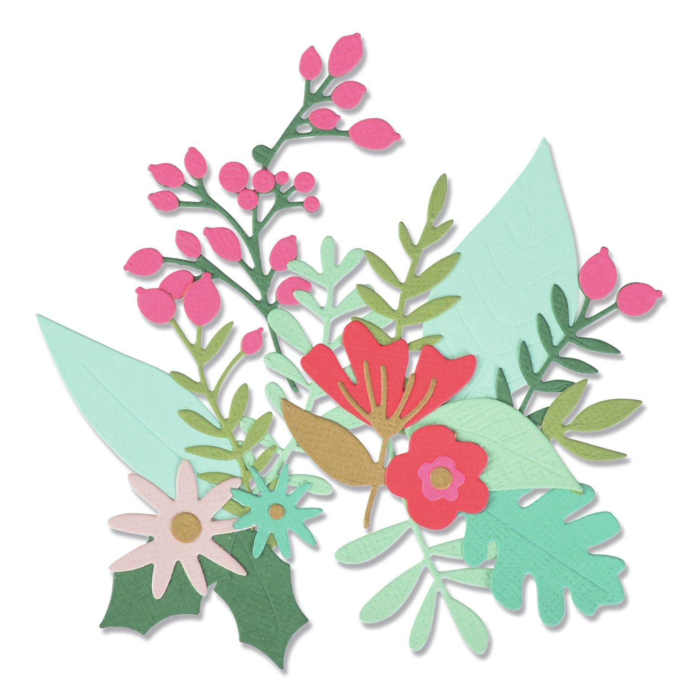 Sizzix - Thinlits Dies - Floral Abundance
