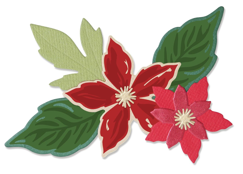 Sizzix Framelits Die & Stamp Set By Lisa Jones 6/Pkg-Seasonal Flowers
