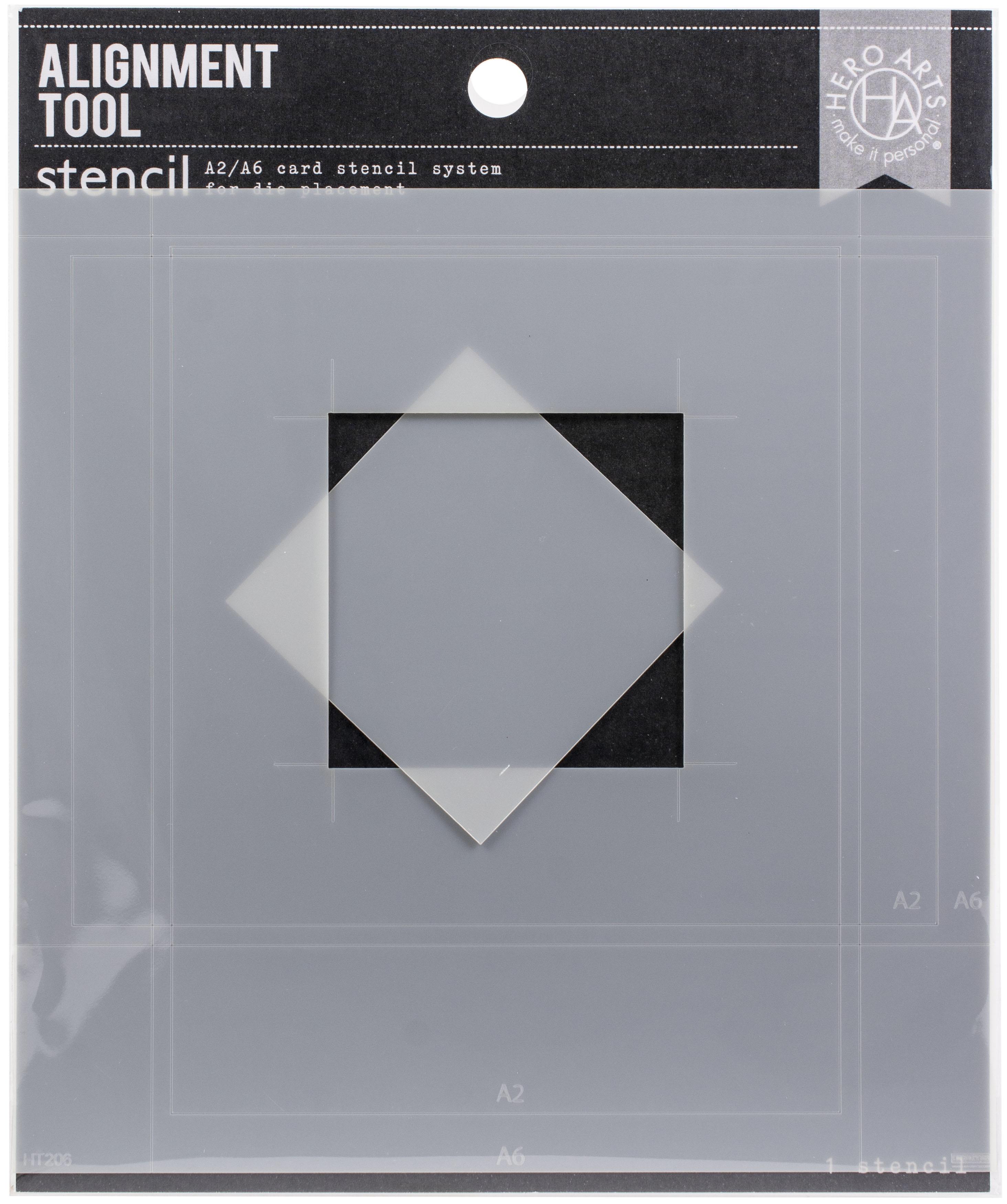 Hero Arts Alignment Tool Stencil-A2 & A6