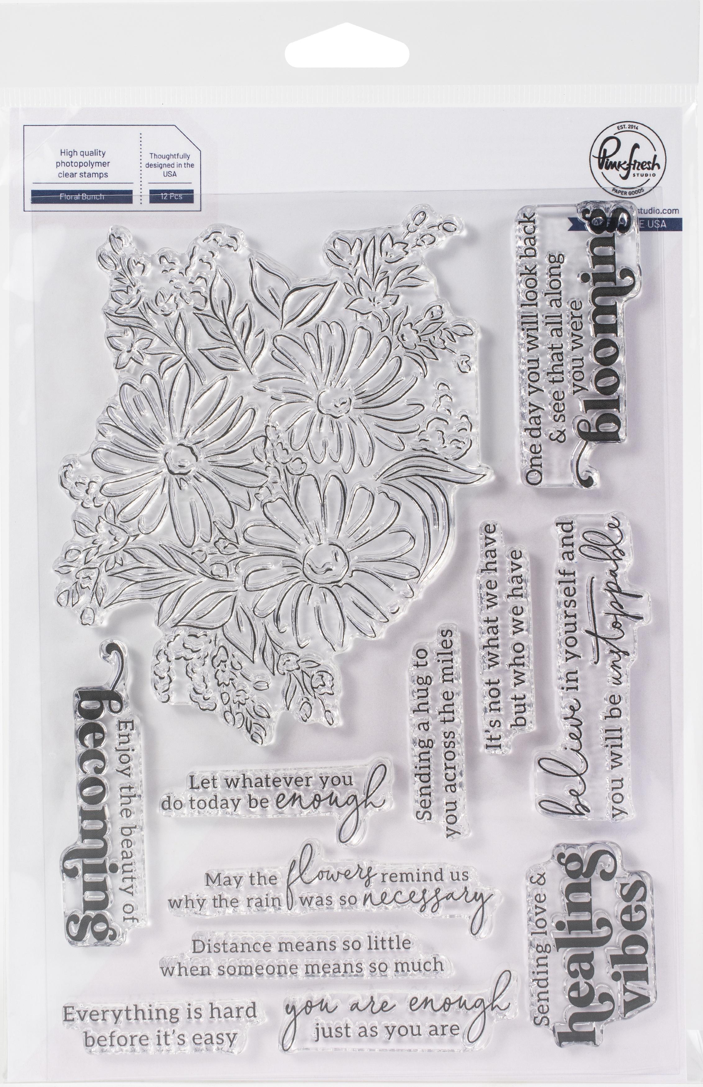Pinkfresh Studio Clear Stamp Set 6X8-Floral Bunch