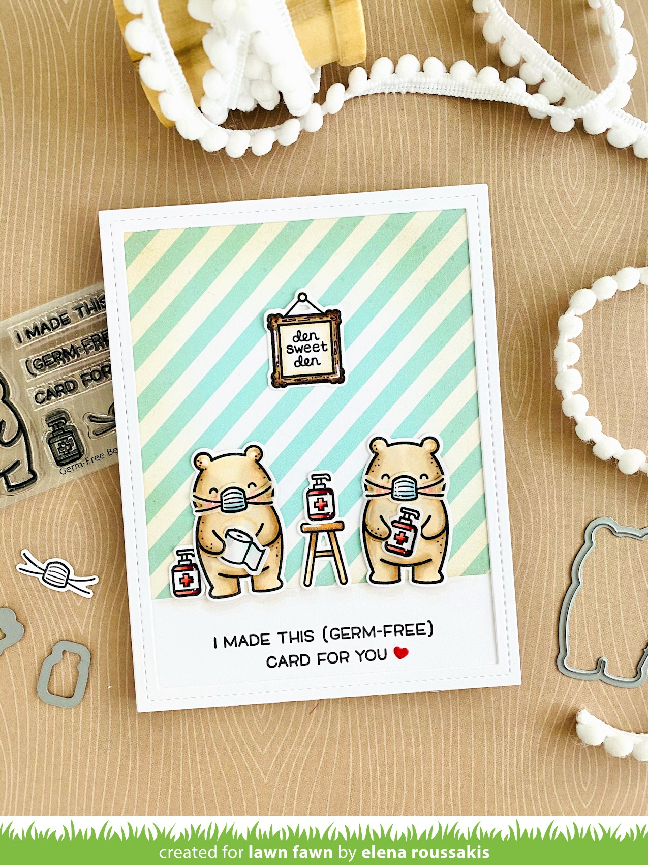Lawn Fawn Clear Stamps 3X2-Germ-Free Bear