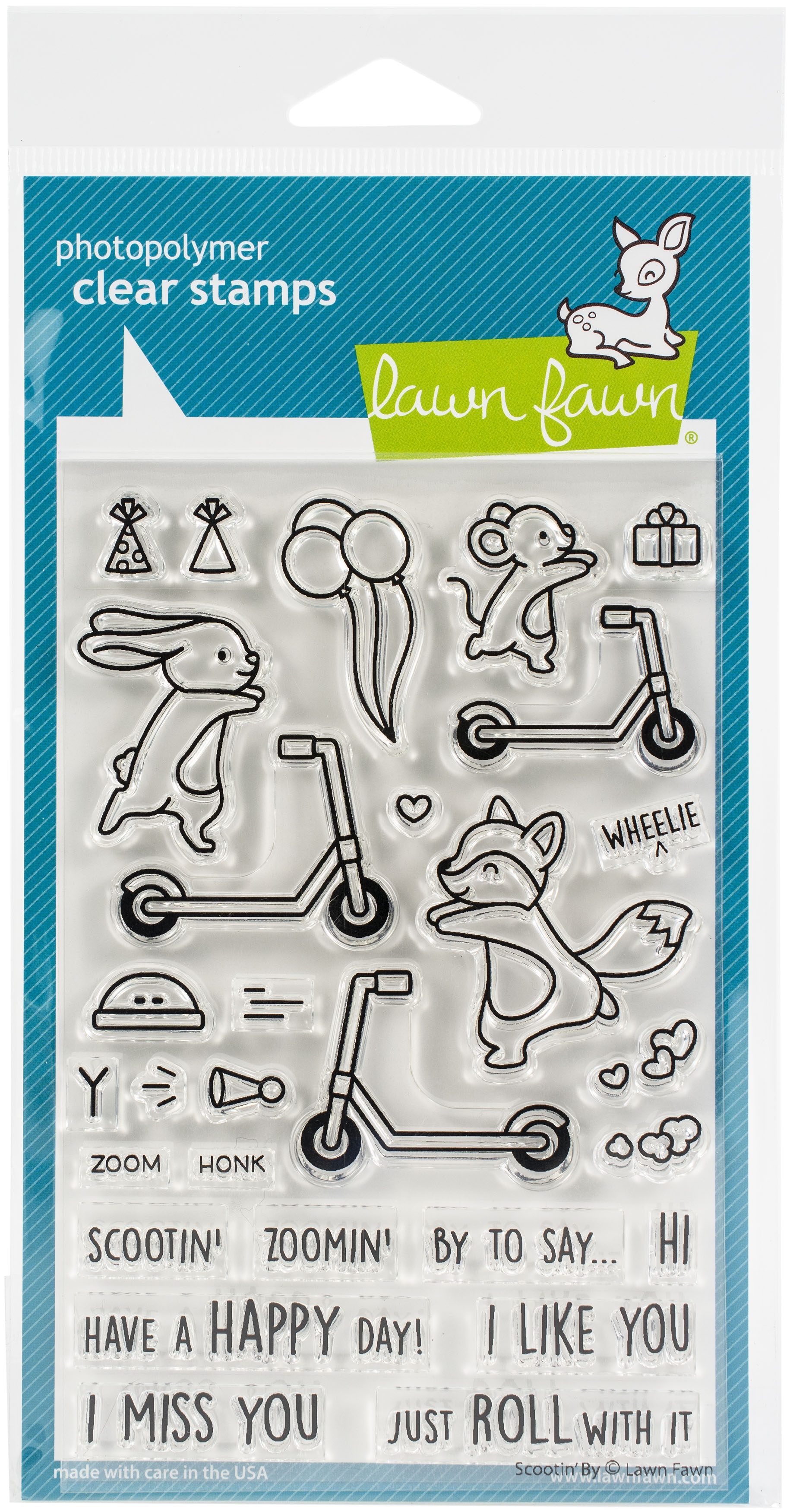 Scootin By - Stamps