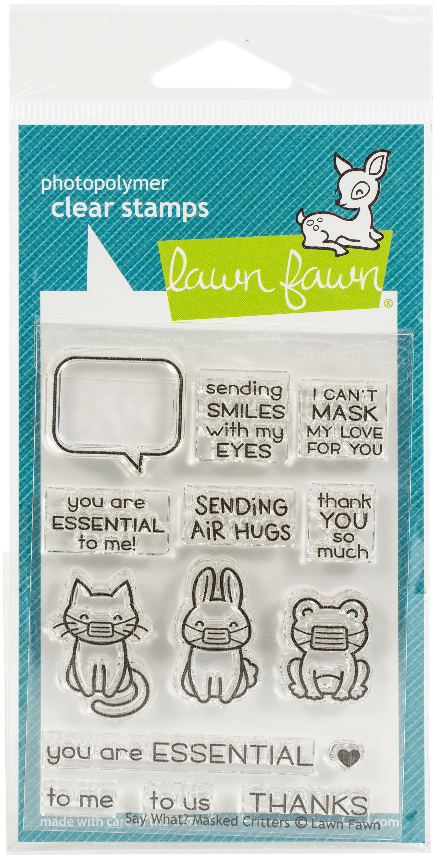 Say What Masked Critter Stamps