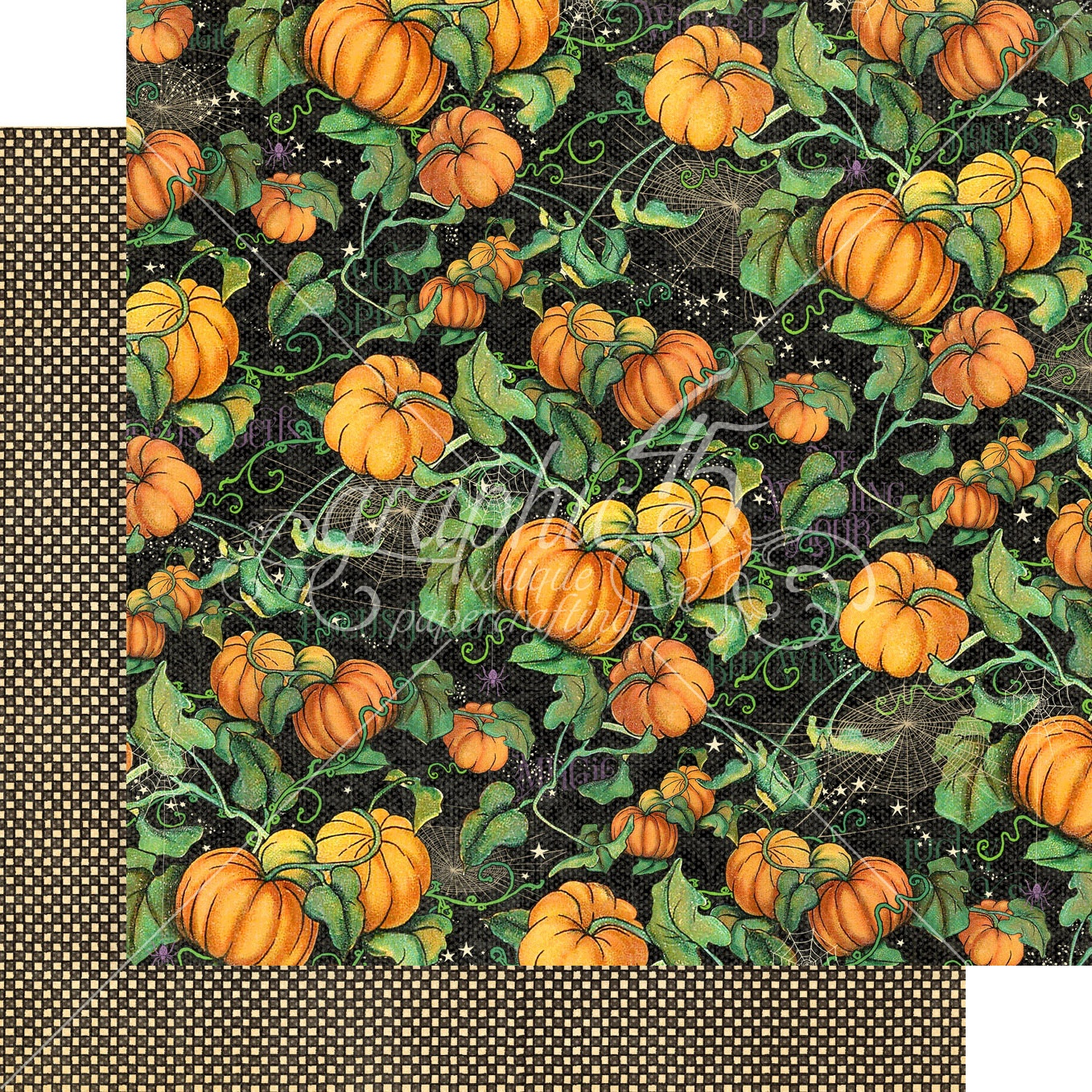 Graphic 45 - Midnight Tales Double-Sided Cardstock - Pumpkin Patch 12x12