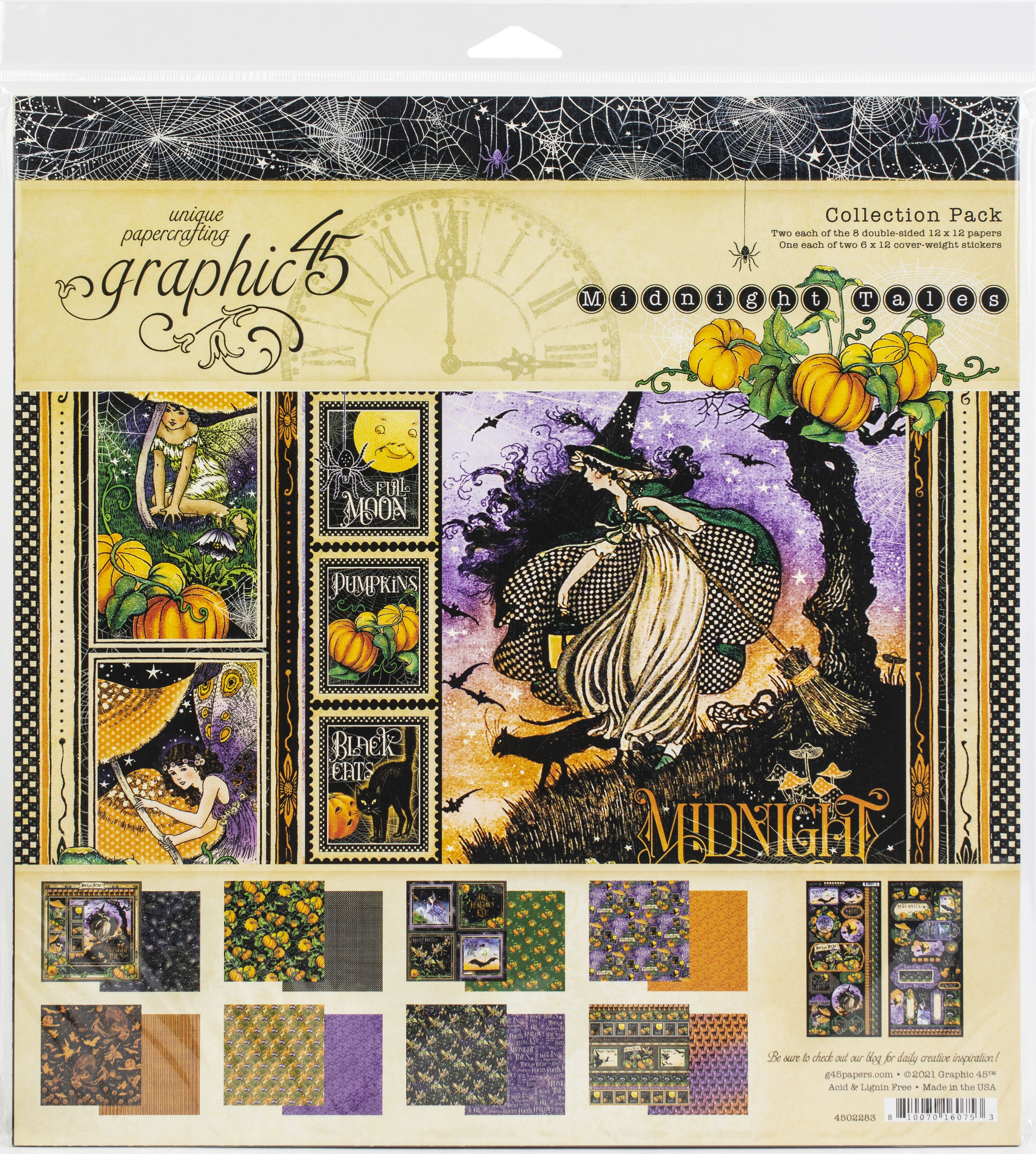 Graphic 45 Collection Pack 12x12 - Midnight Tales