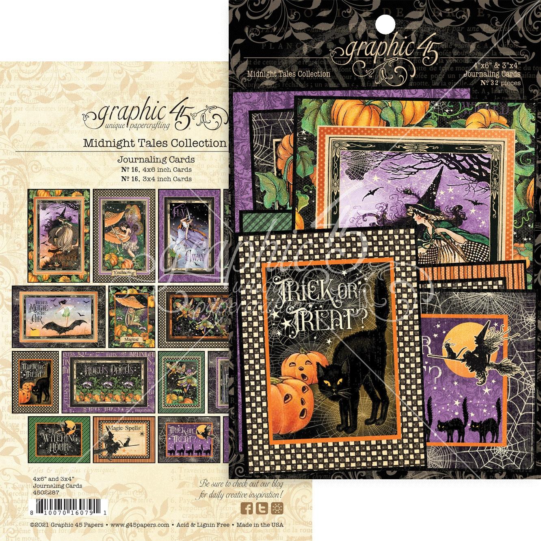 Graphic 45 - Midnight Tales Ephemera & Journaling Cards