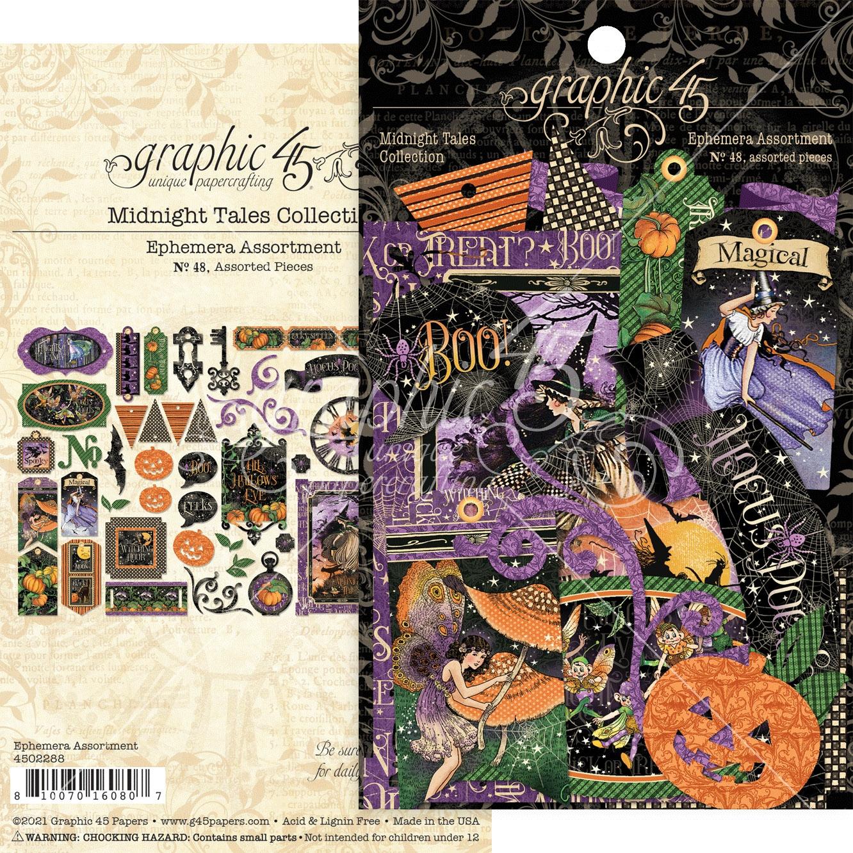 Graphic 45 - Midnight Tales Cardstock Die-Cut Assortment