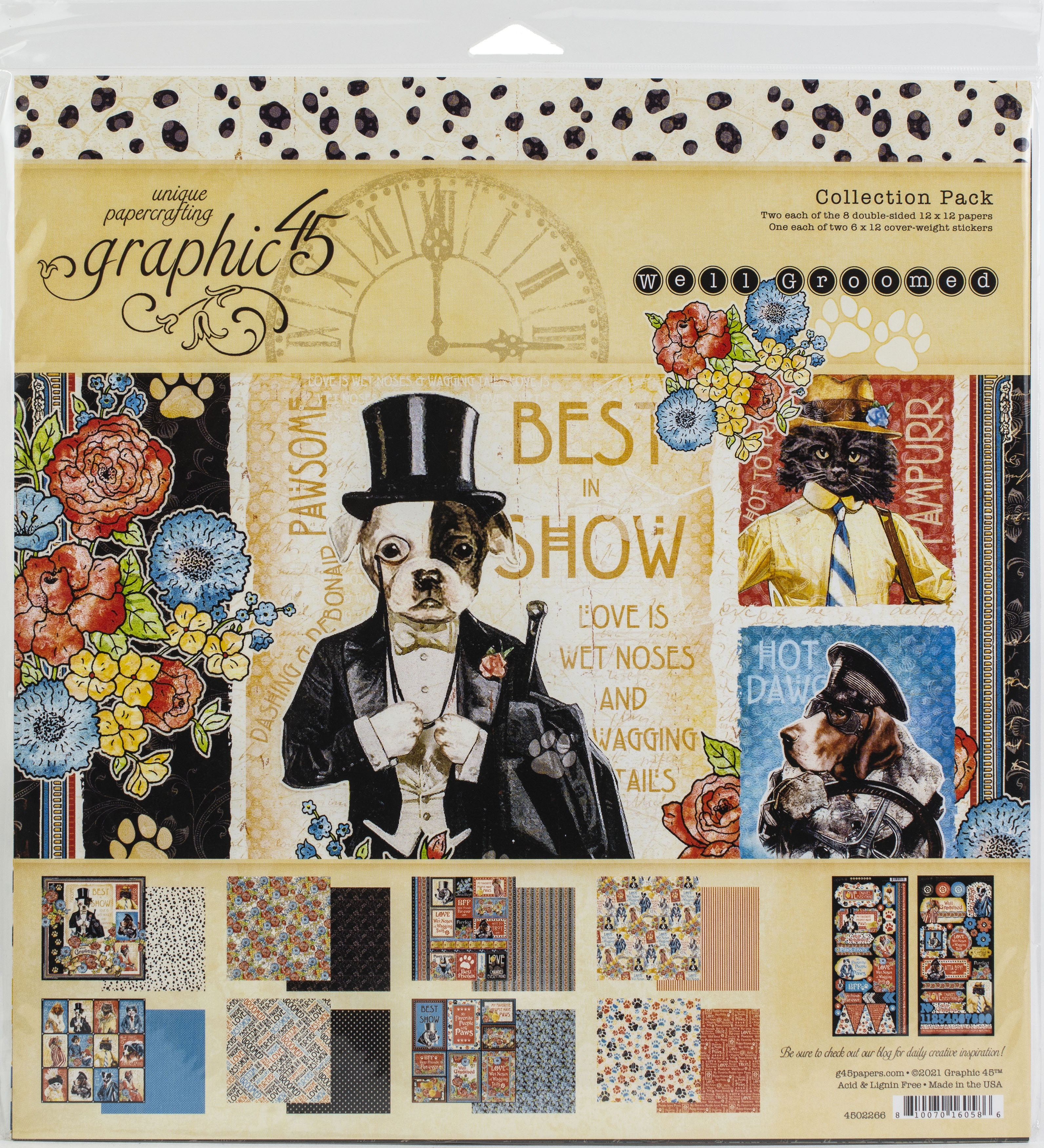 Graphic 45 Collection Pack 12X12-Well Groomed
