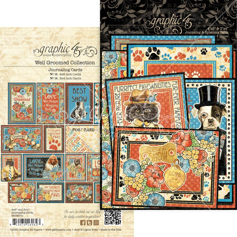 Well Groomed Ephemera & Journaling Cards-