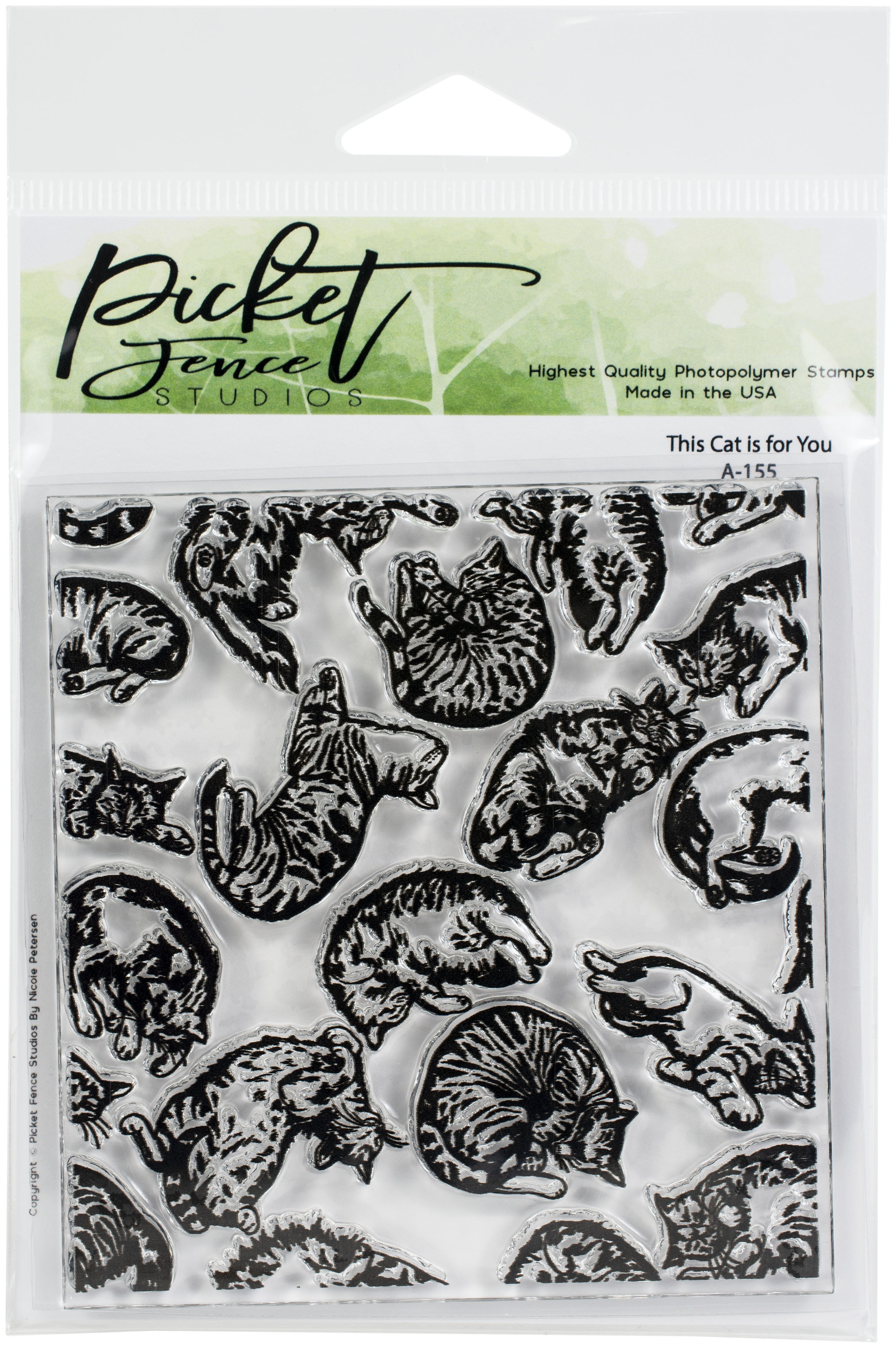 Picket Fence - This Cat Is For You  4x4 stamp