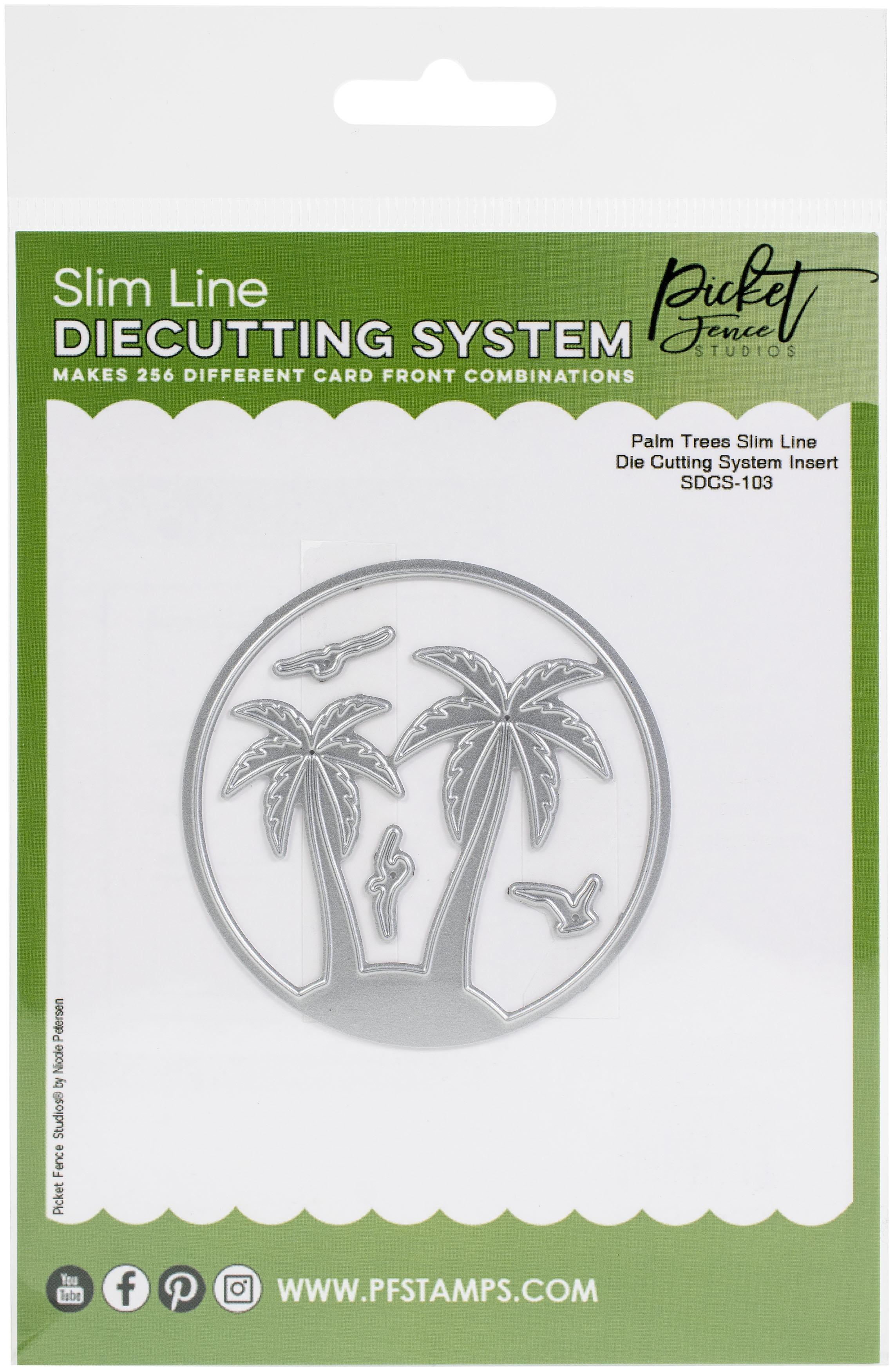 Picket Fence Studios Steel Dies-Palm Trees- Slim Line Die Insert