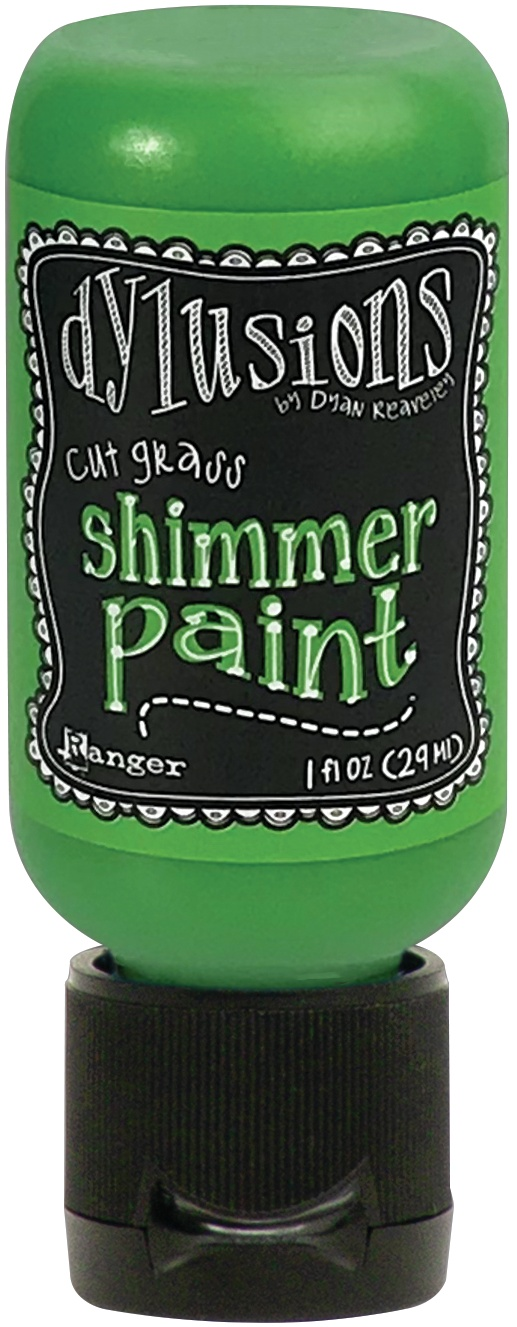 Dylusions Shimmer Paint 1oz-Cut Grass