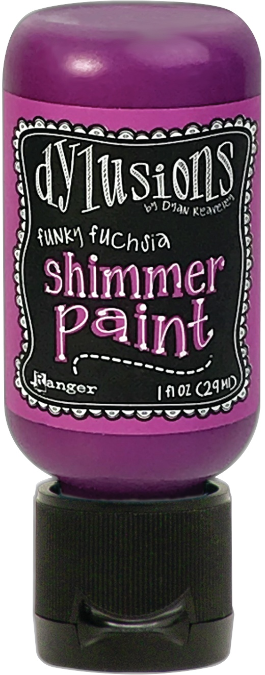 Dylusions Shimmer Paint 1oz-Funky Fuchsia