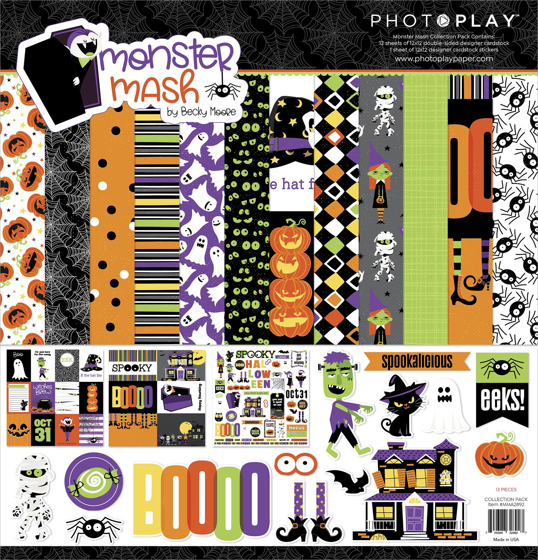PhotoPlay Collection Pack 12X12-Monster Mash