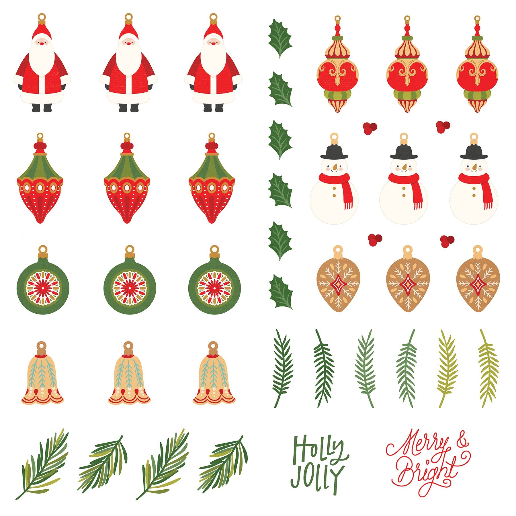 PP The North Pole Trading Co Deck Halls Dies Paper