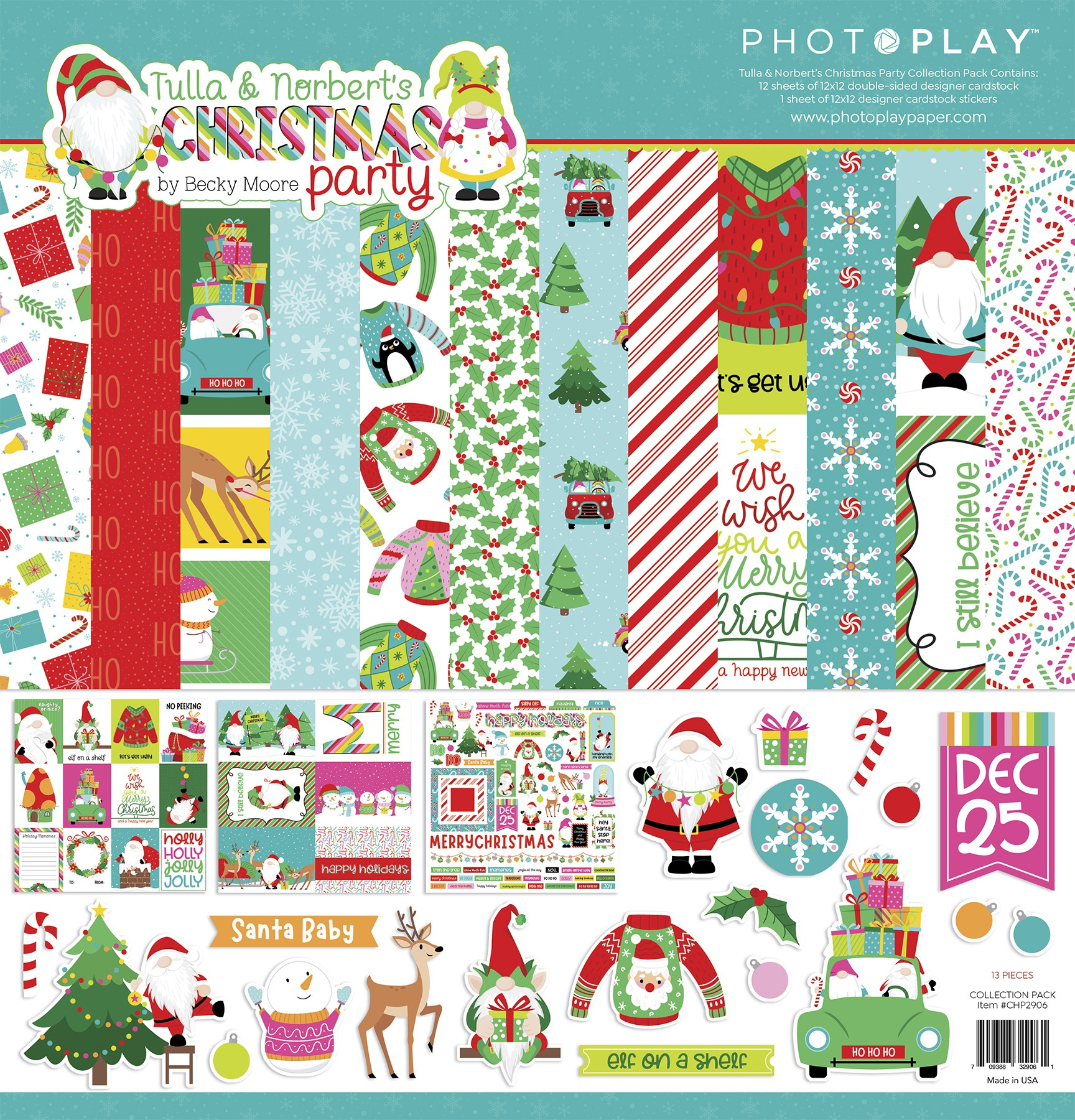 PhotoPlay Collection Pack 12X12-Tulla & Norbert's Christmas Party