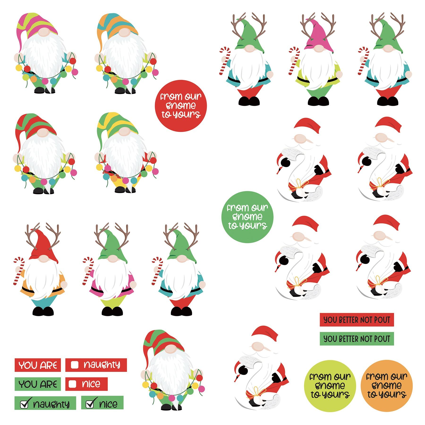 Tulla & Norbert's Christmas Party - Gnomies Dies Paper