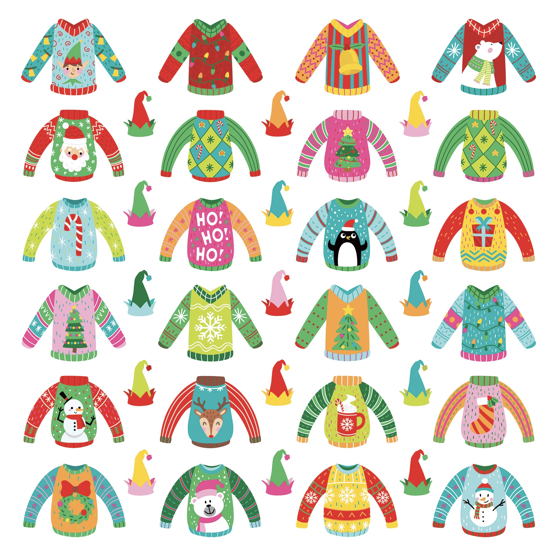 Tulla & Norbert's Christmas Party - Ugly Sweater Dies Paper