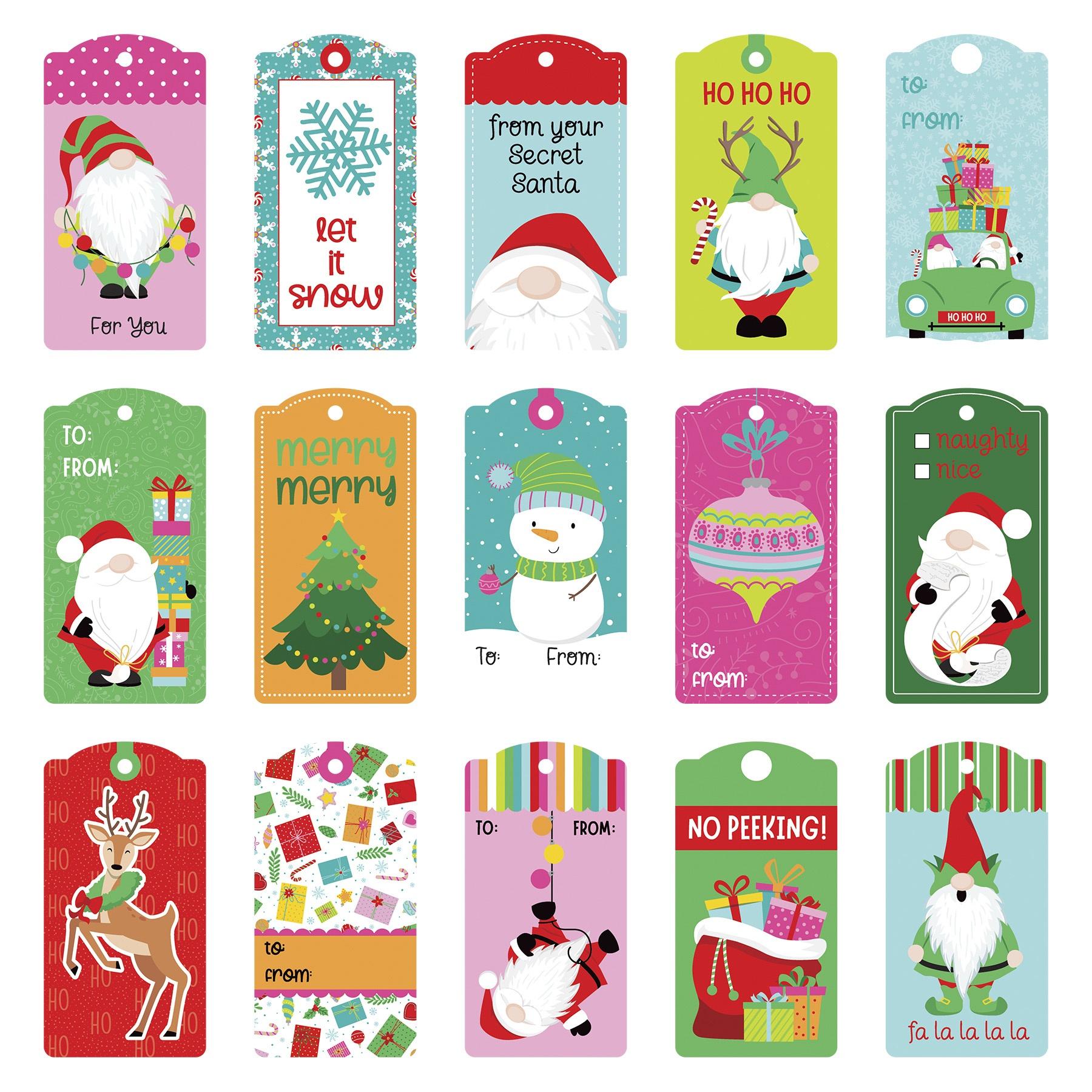 Tulla & Norbert's Christmas Party Cardstock Die-Cut Sheet-Tag
