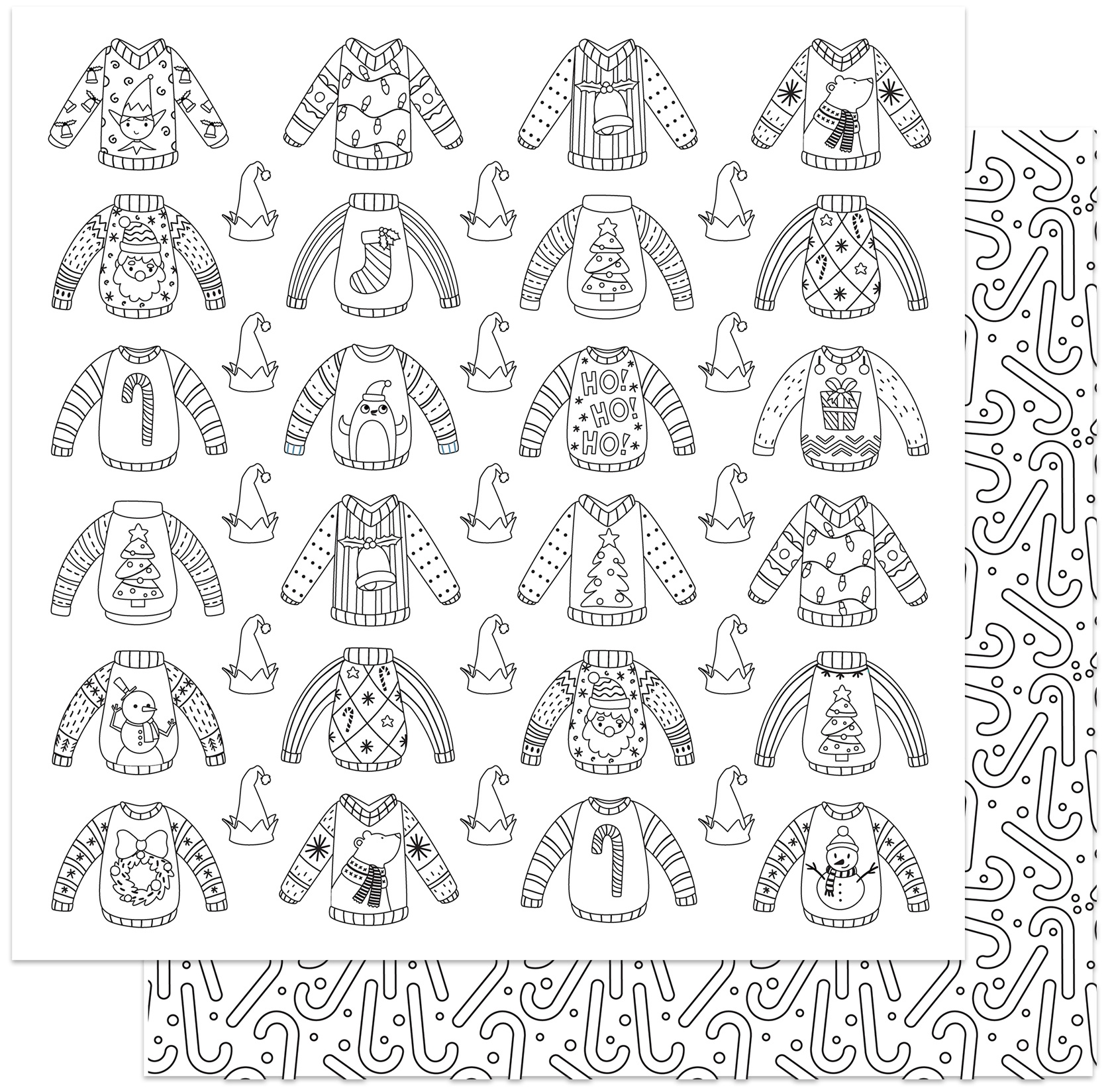 Tulla & Norbert's Christmas Party - Ugly Sweater Color Me Paper