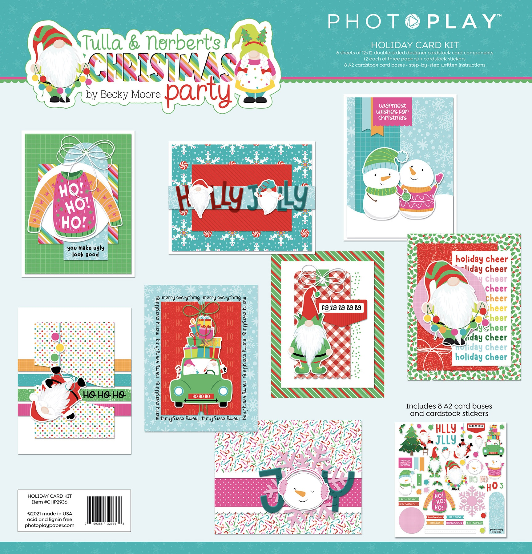 PhotoPlay Collection Card Kit-Tulla & Norbet's Christmas Party