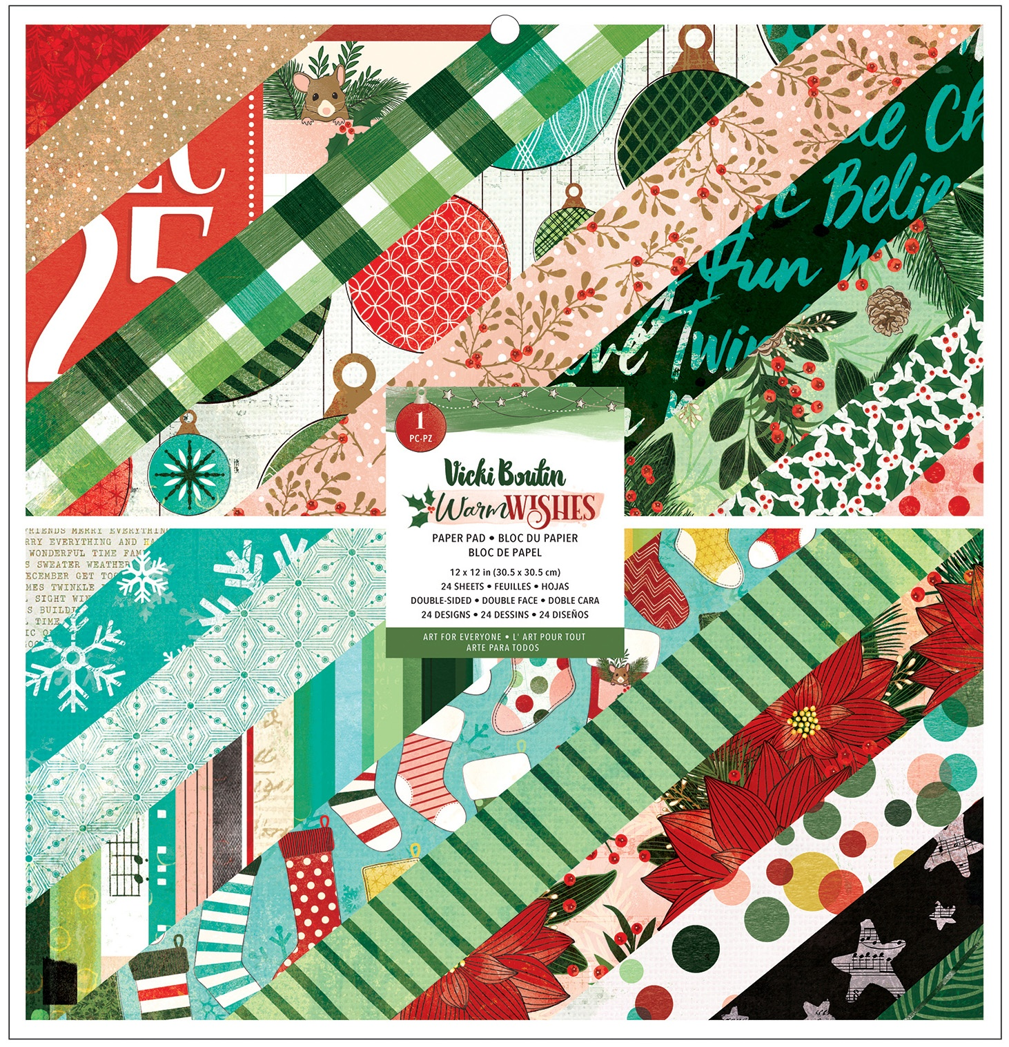 Vicki Boutin - Warm Wishes - 12x12 Paper Pad