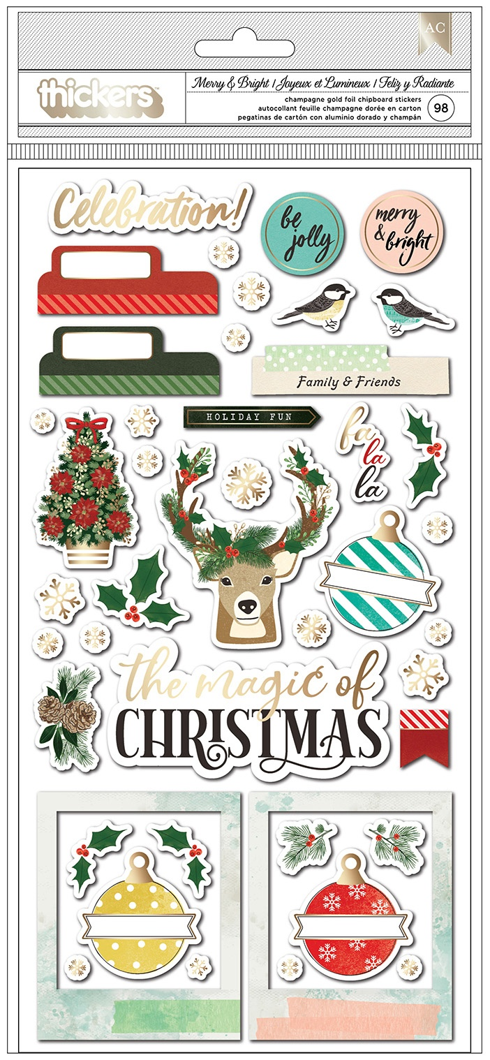 PRESALE - Vicki Boutin - Warm Wishes - Thickers Chipboard Phrases and Icons