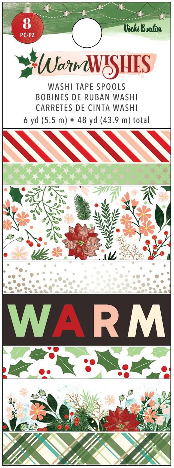 PRESALE - Vicki Boutin - Warm Wishes - Washi Tape, 8 Rolls