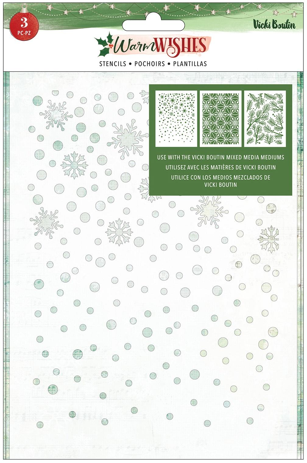 PRESALE - Vicki Boutin - Warm Wishes - Stencil Set, 3pc