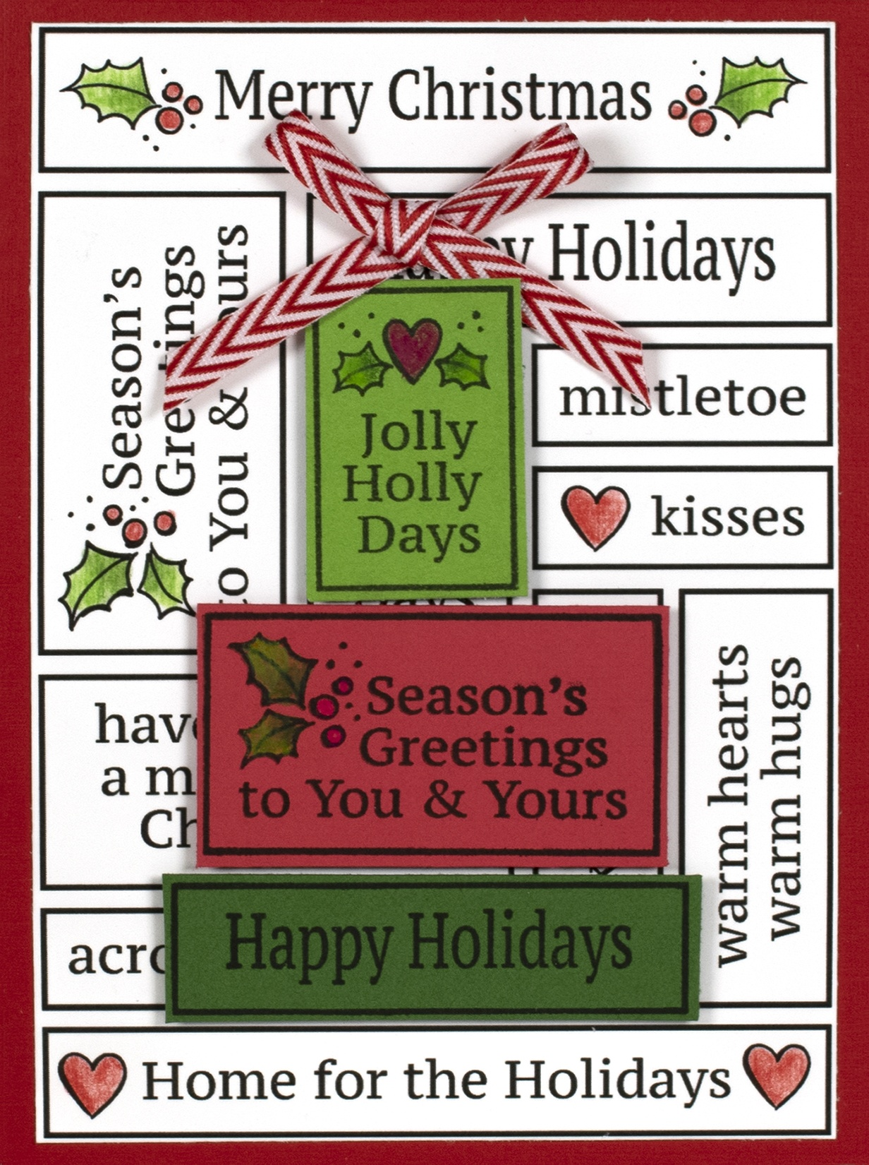 Stampendous Cling Stamp-Slim Boxed Holiday