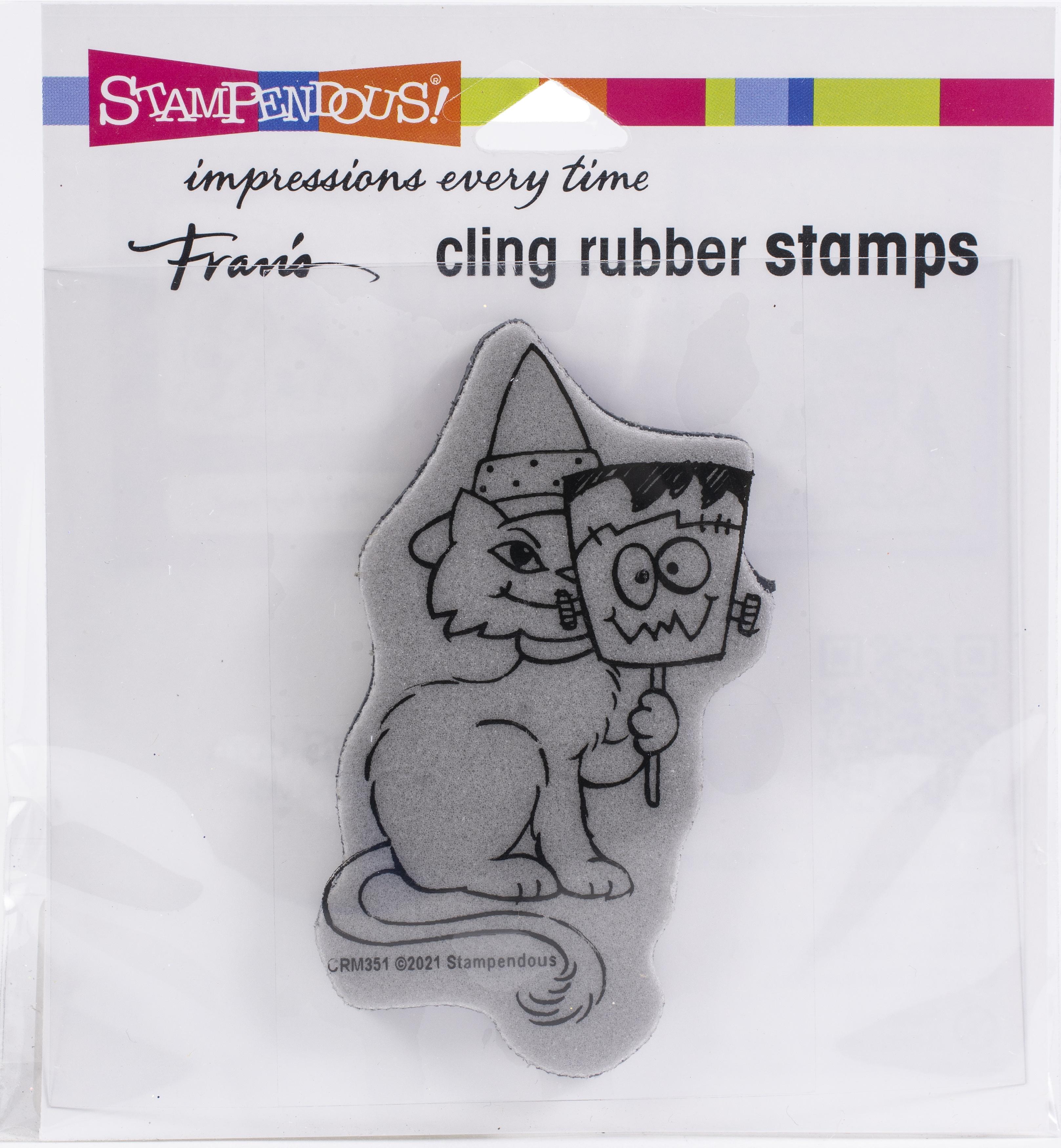 Stampendous Cling Stamp-Frankencat