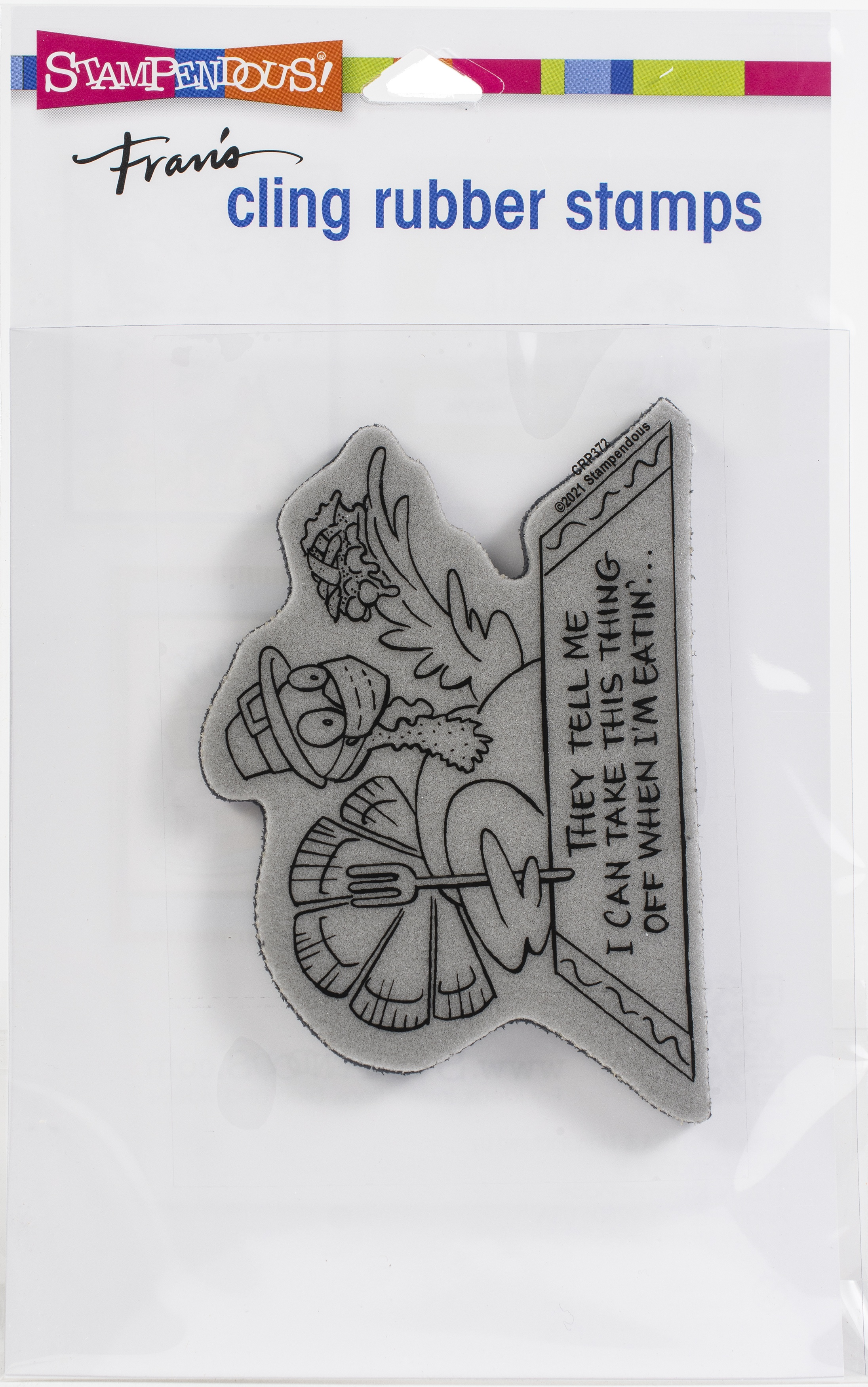 Stampendous Cling Stamp-Masked Turkey
