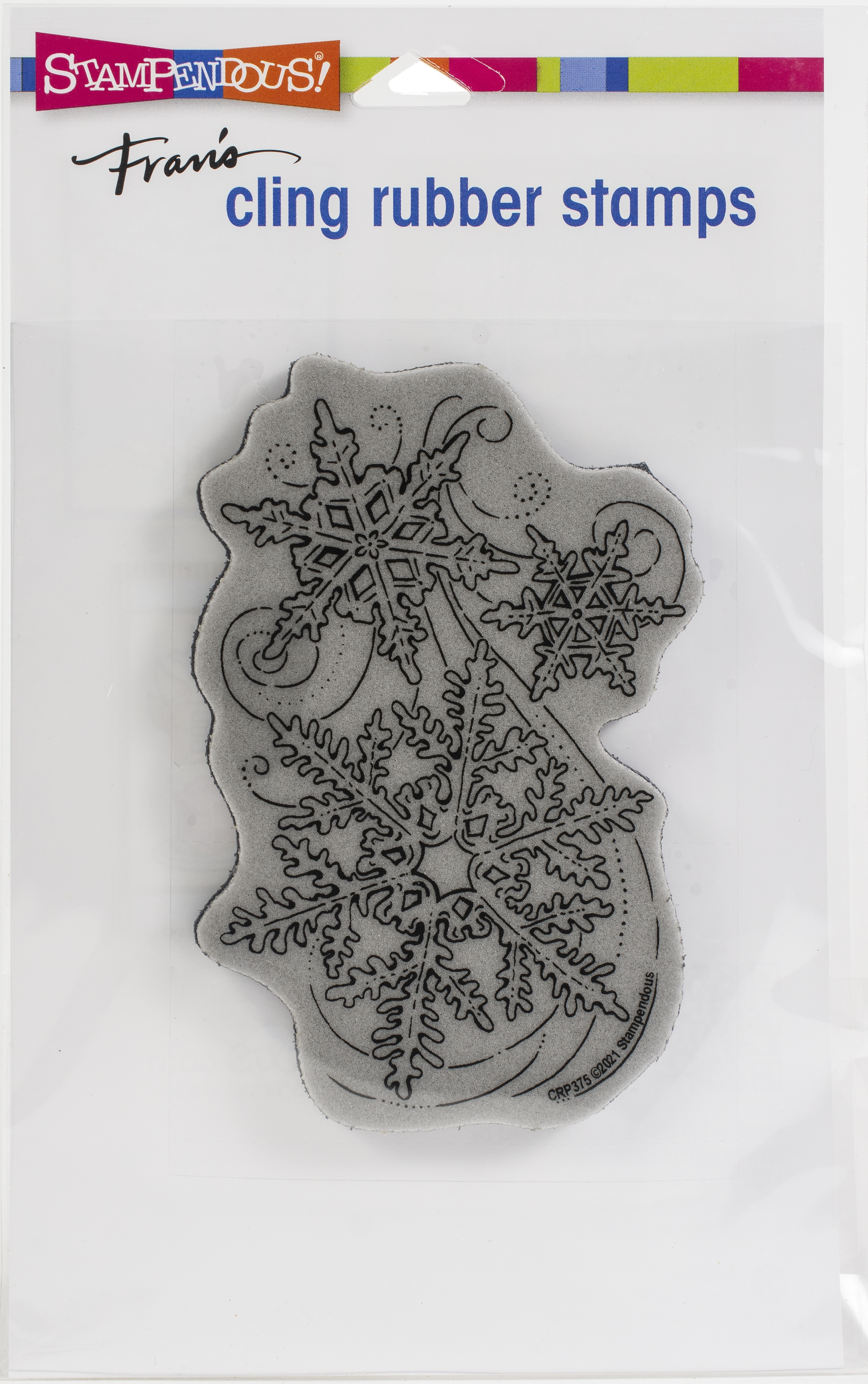 Stampendous Cling Stamp-Snow Swirls