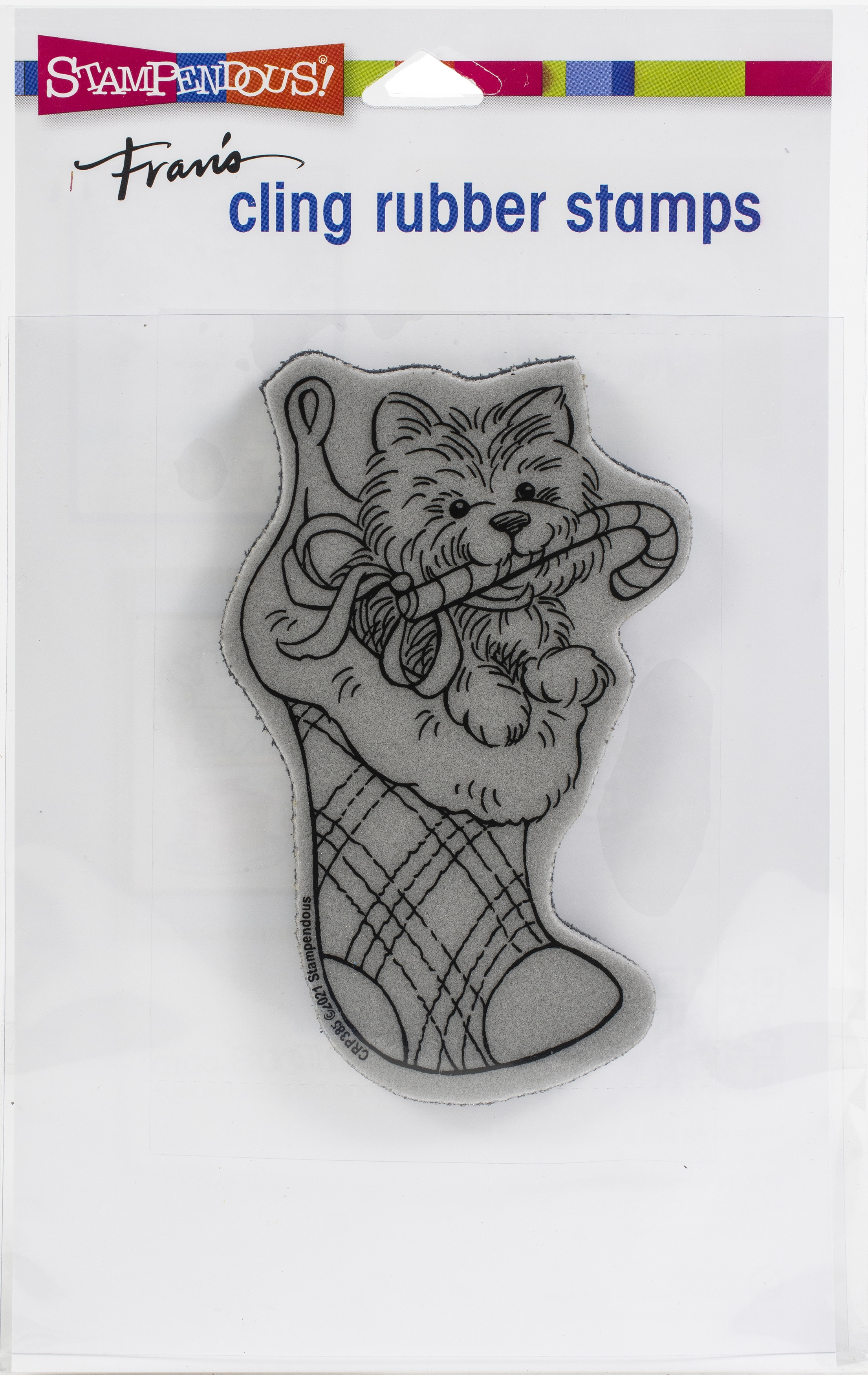 Stampendous Cling Stamp-Puppy Stocking