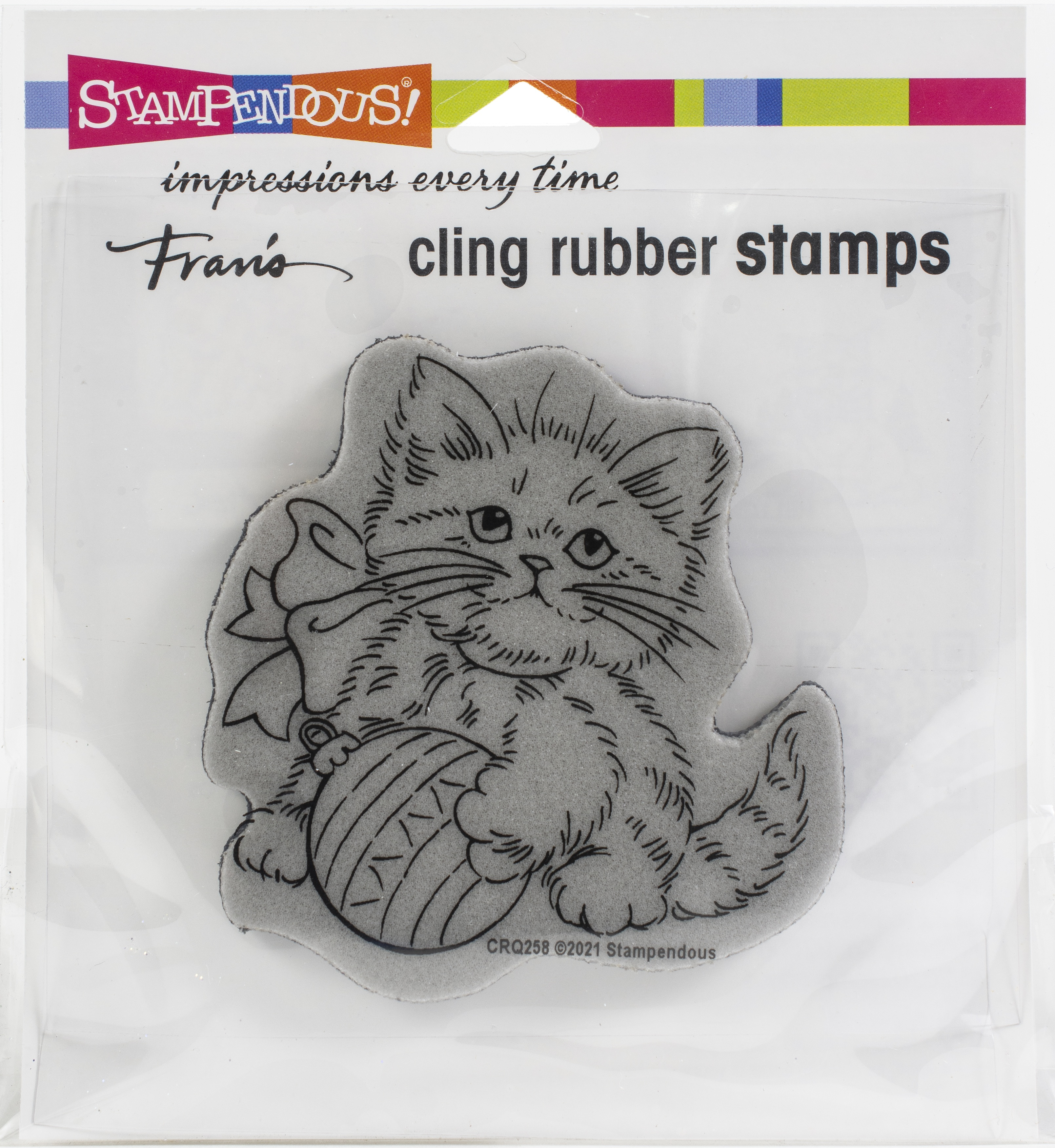 Stampendous Cling Stamp-Kitten Ornament