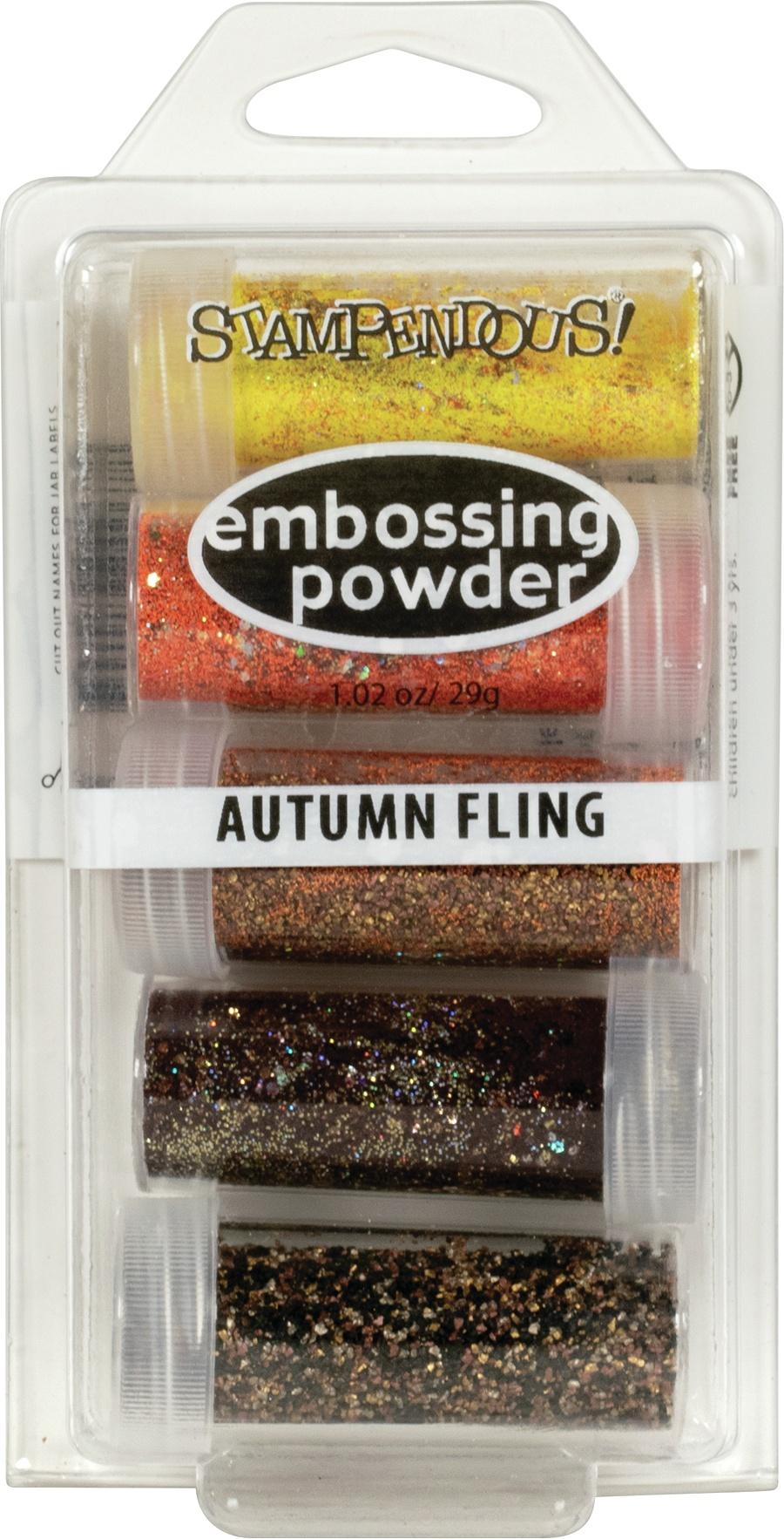 Stampendous Embossing Powder 5/Pkg .86oz-Autumn Fling
