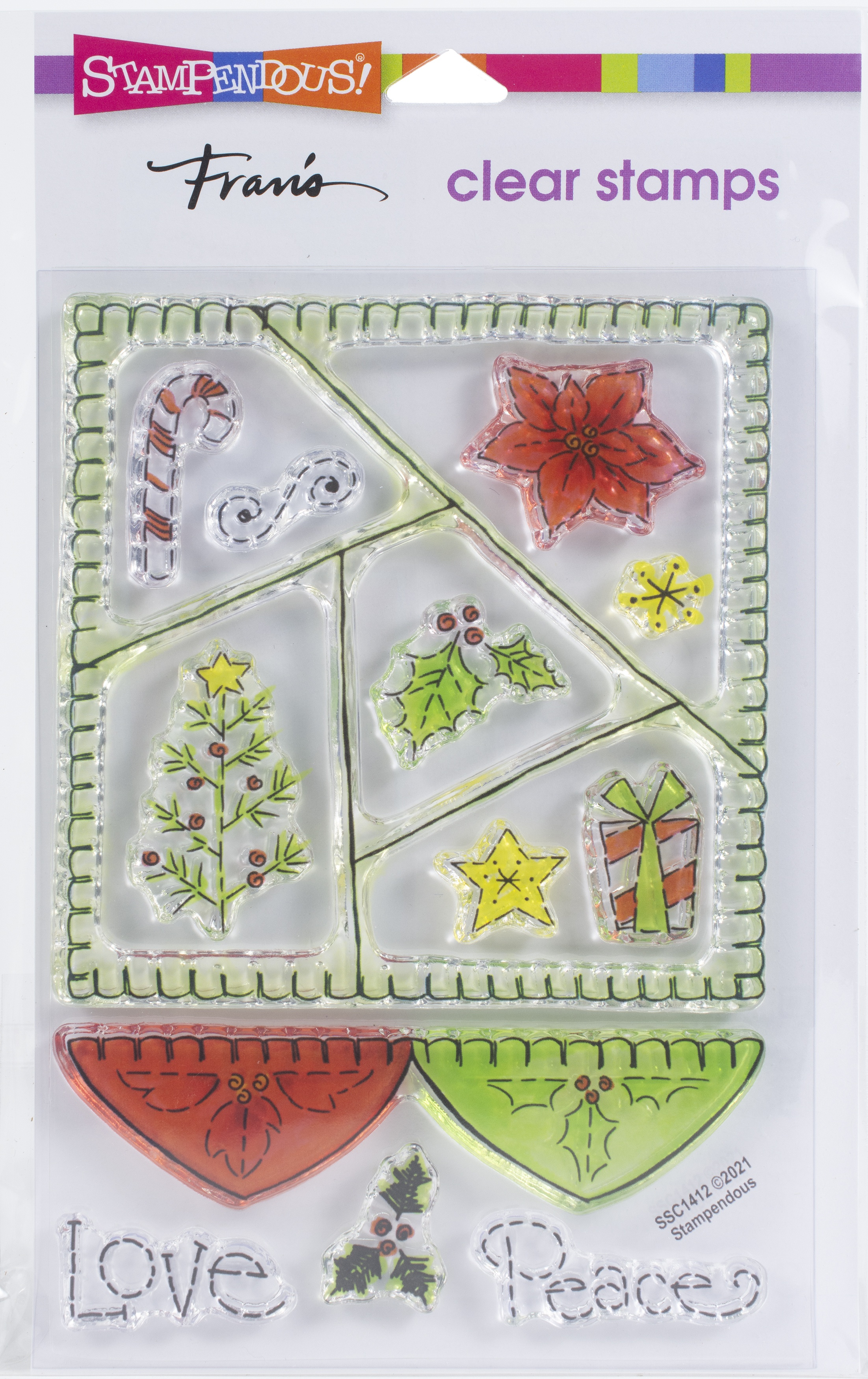 Stampendous Perfectly Clear Stamps-Peace Quilt