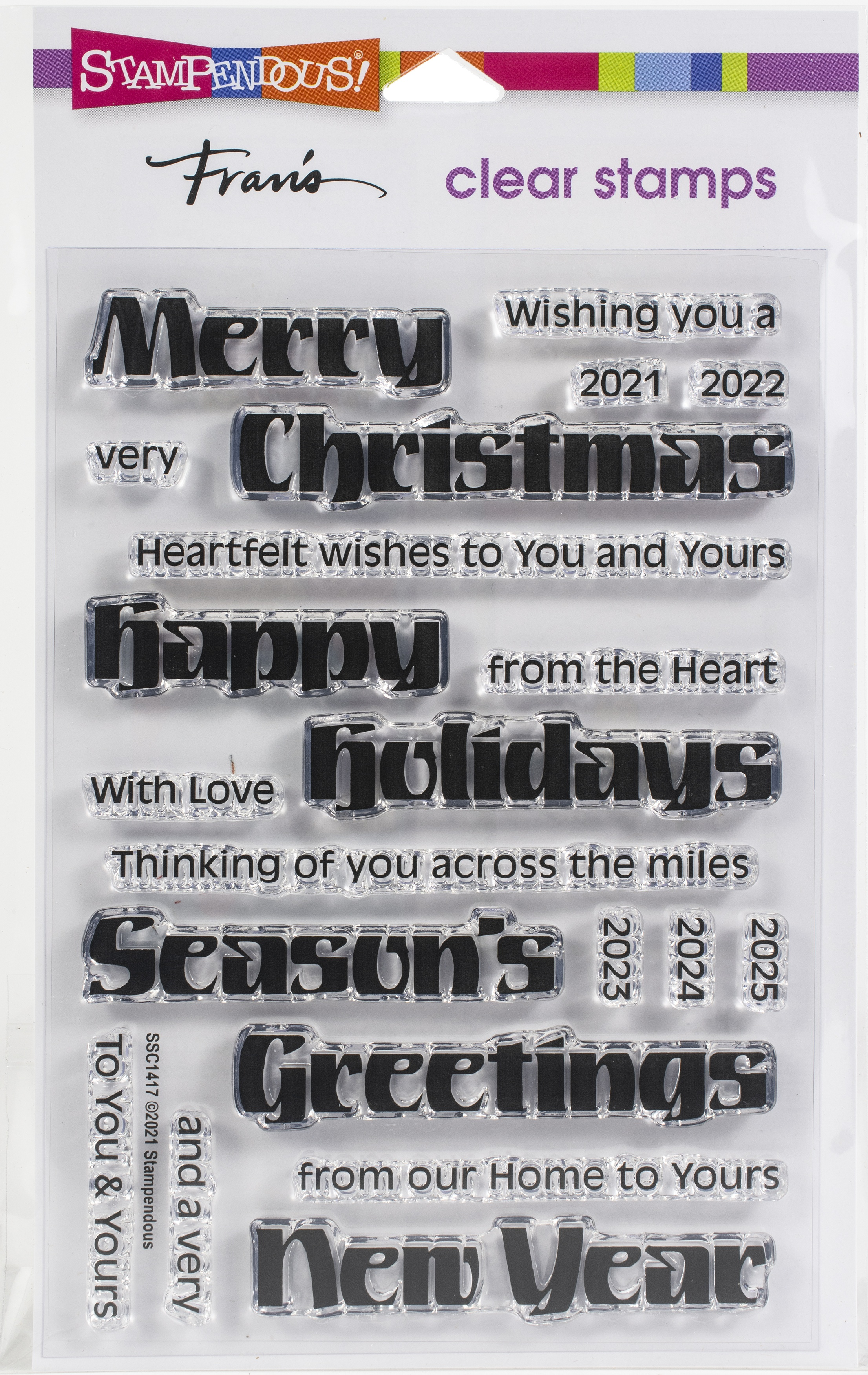 Stampendous Perfectly Clear Stamps-Bold Season